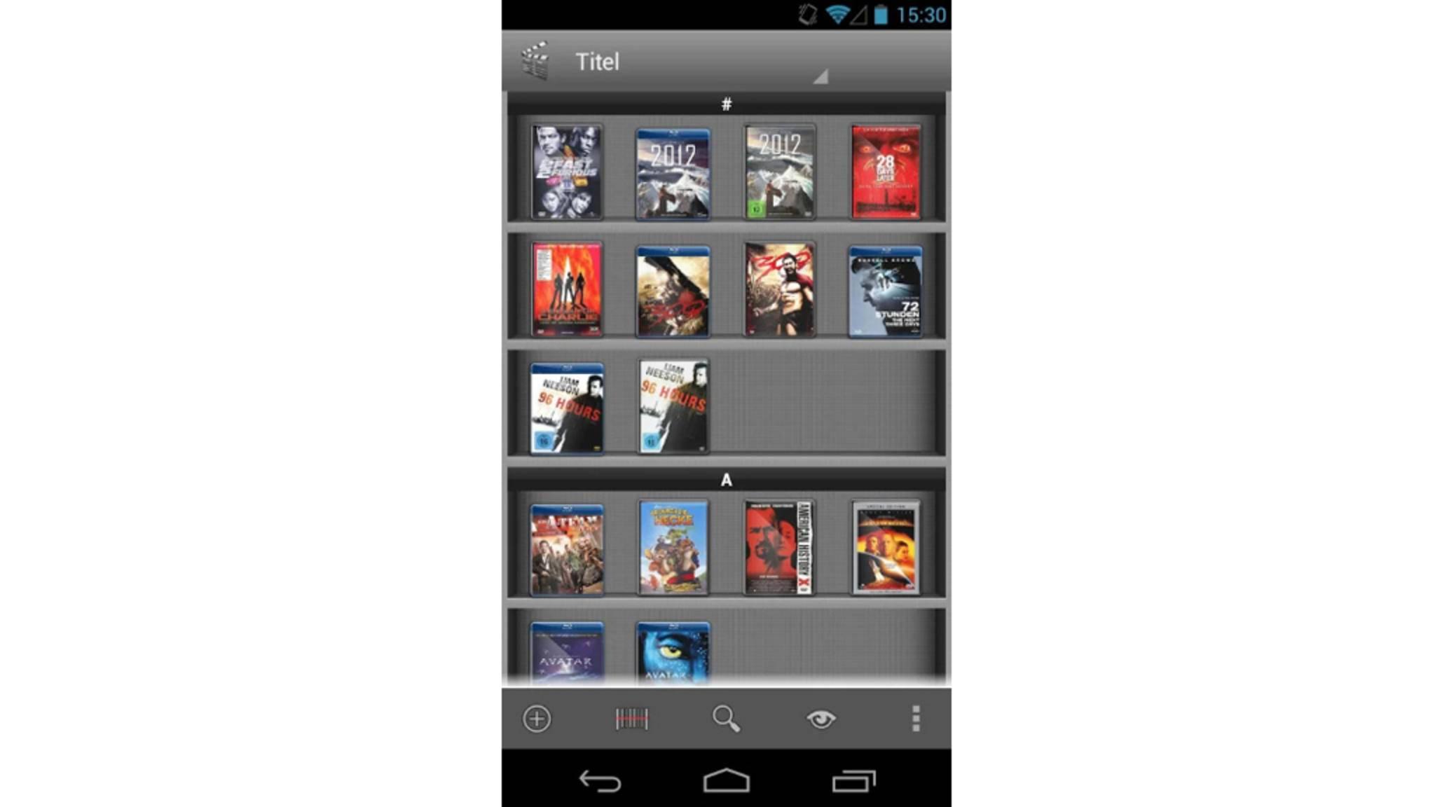 Deine Filme kannst Du abscannen und als digitale Bibliothek anzeigen lassen.