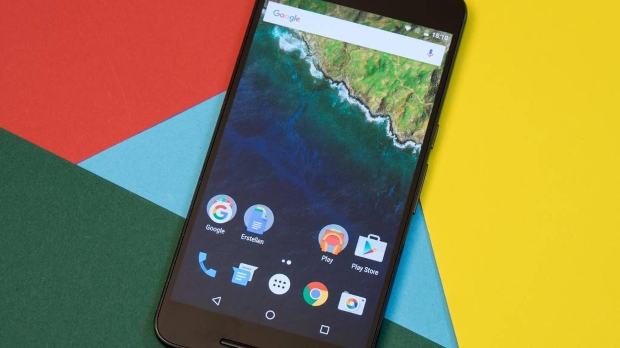Das Nexus 6P erhält mit Android 7.1.2 neue Features.