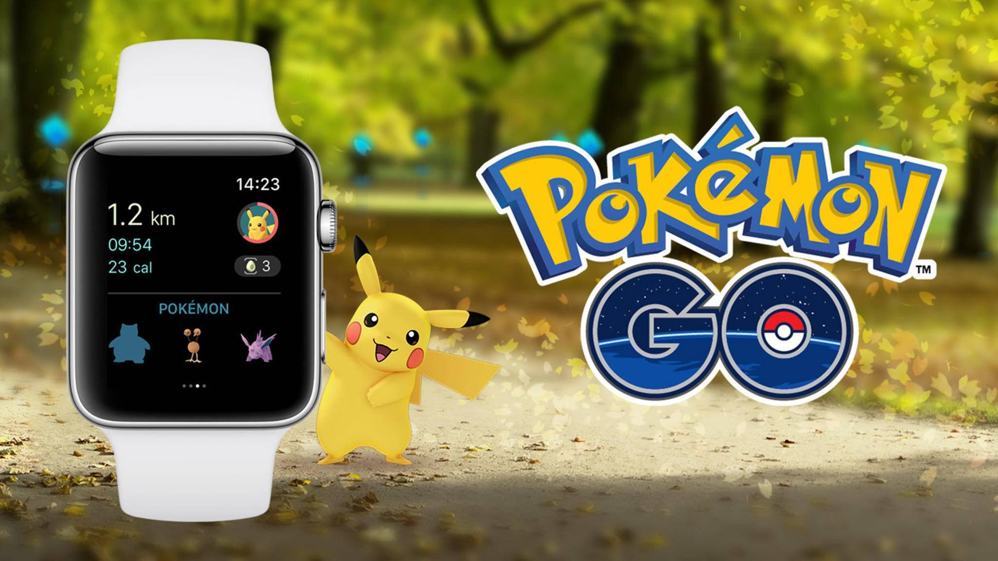 """Wer eine Apple Watch besitzt, hat es nun in """"Pokémon Go"""" leichter."""