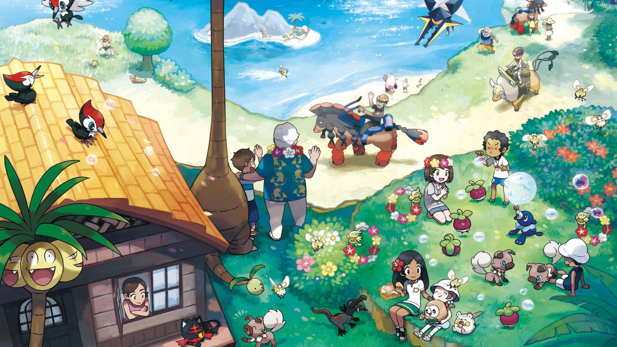 Auf der Inselgruppe Alola sind überall Pokémon zu finden.