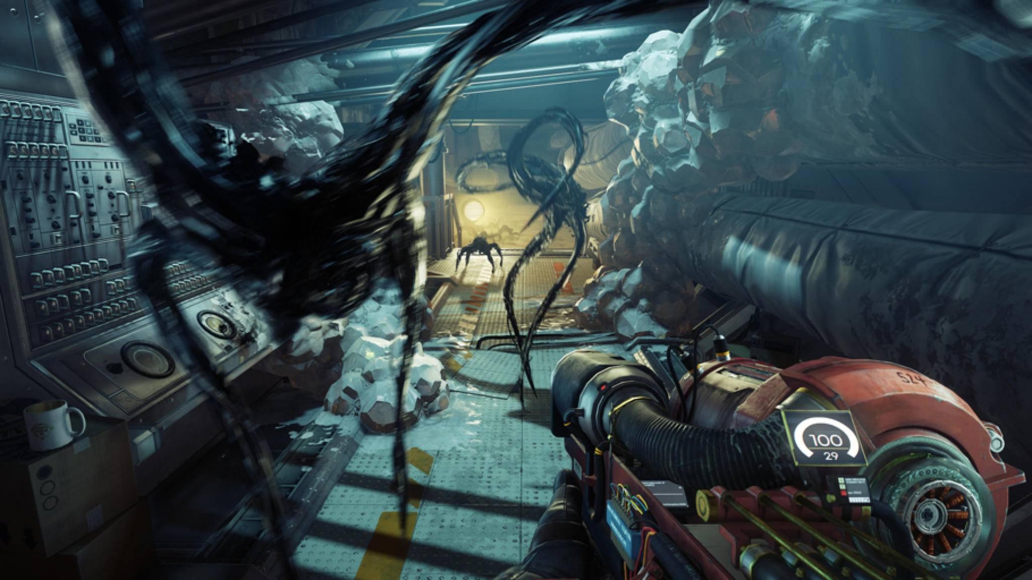 """In der """"Prey""""-Demo können Gamer ab sofort auf der Raumstation Talos I auf Alienjagd gehen."""
