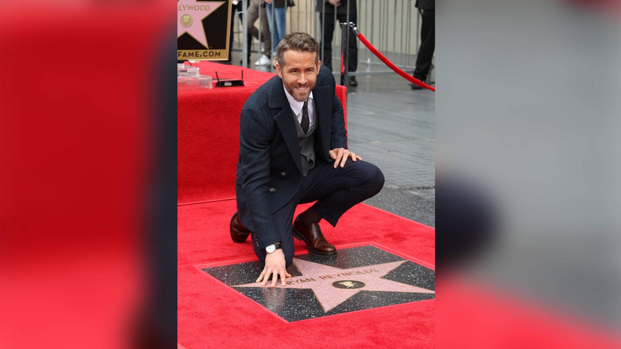 Auch Ryan Reynolds ist nun mit einem Stern auf dem Hollywood Walk of Fame vertreten.