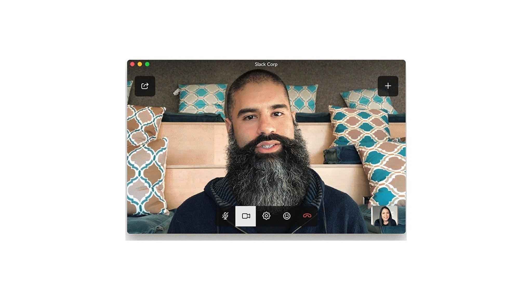 Das Business-Chat-Tool Slack bietet jetzt Videoanrufe.