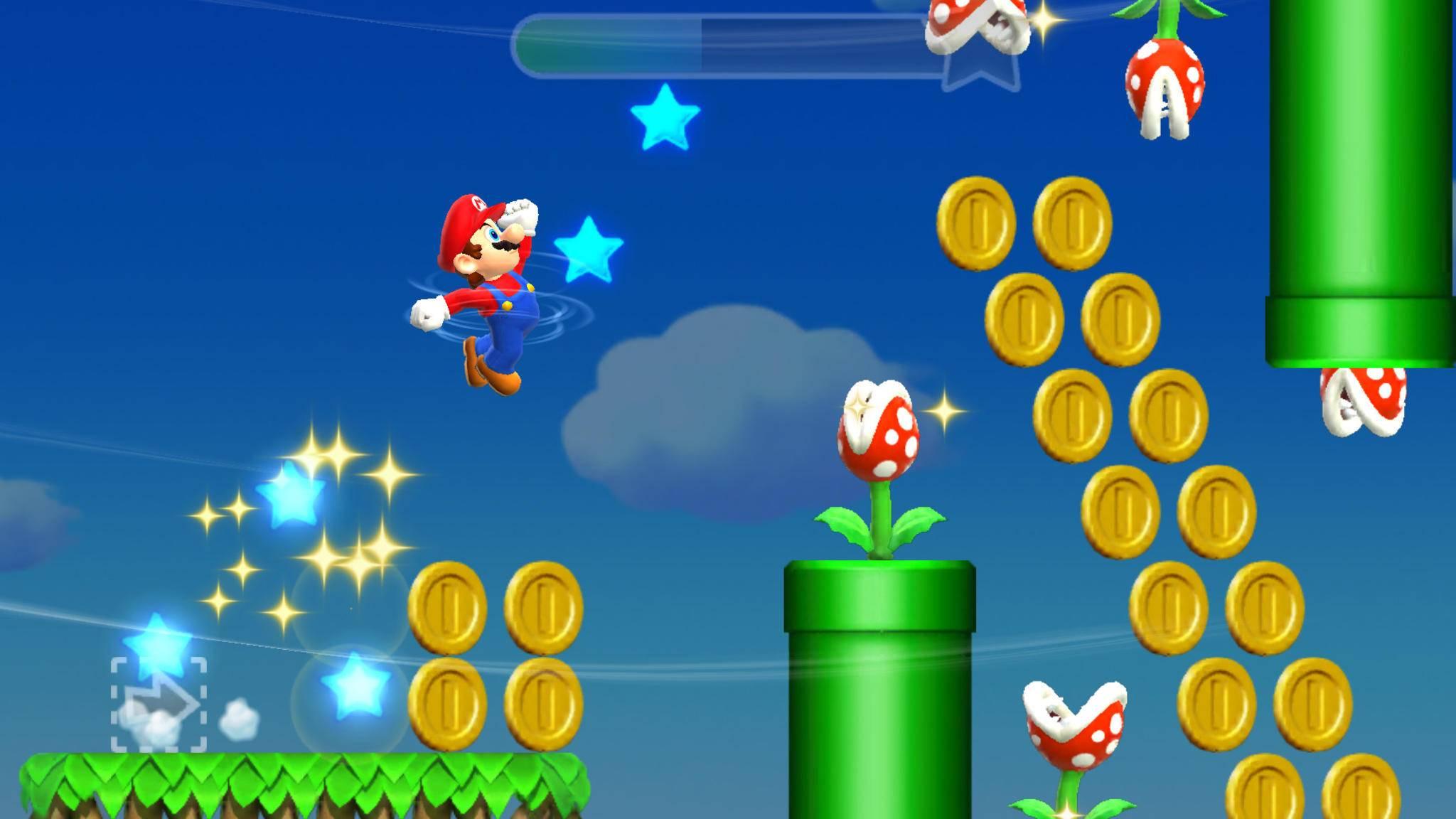 Trotz Latzhose und grüner Rohre: Mario hat seinen Klempner-Job an den Nagel gehängt.