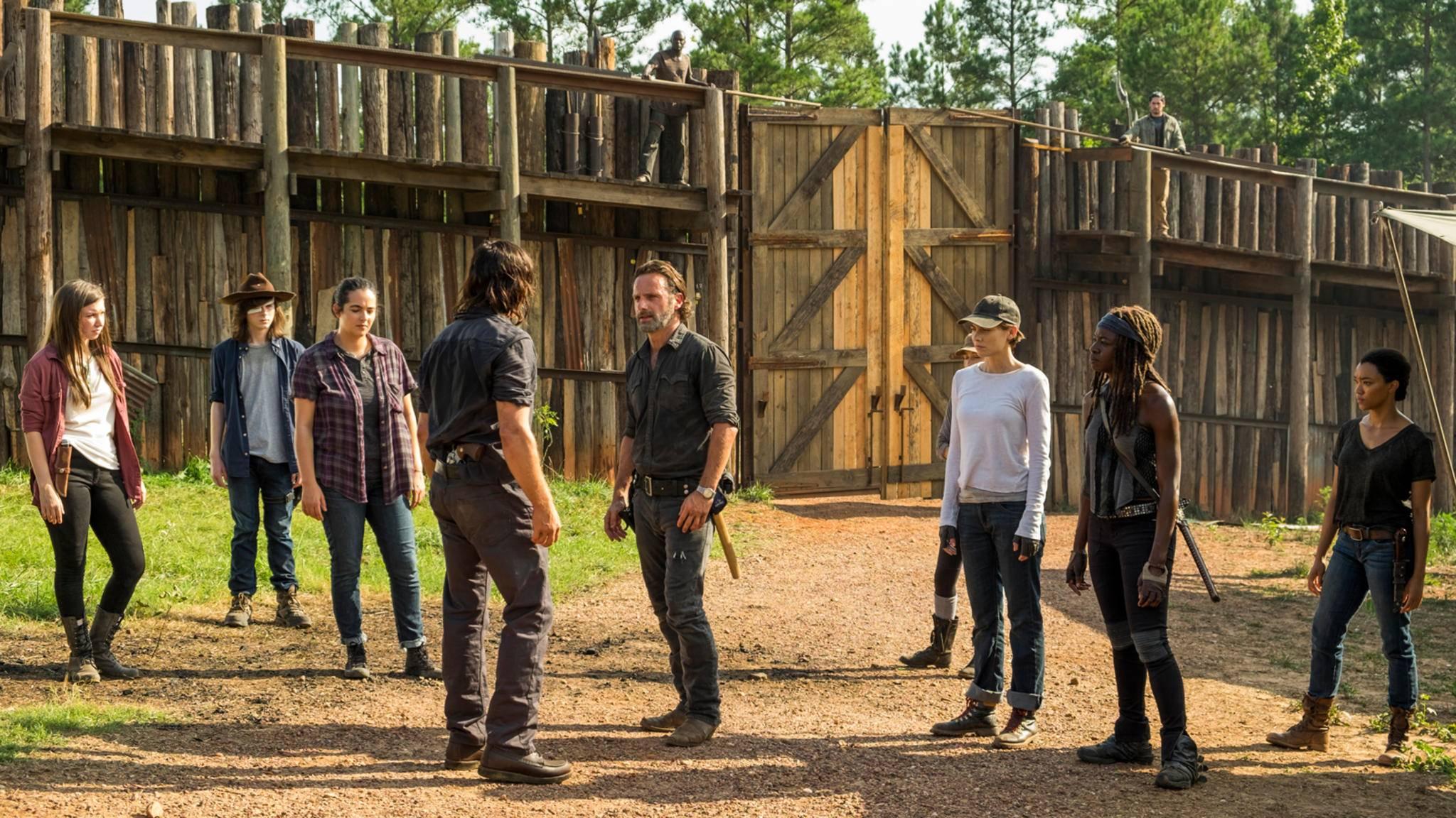 In Hilltop gab es endlich ein Wiedersehen zwischen Rick, Daryl, Maggie und den anderen Überlebenden.