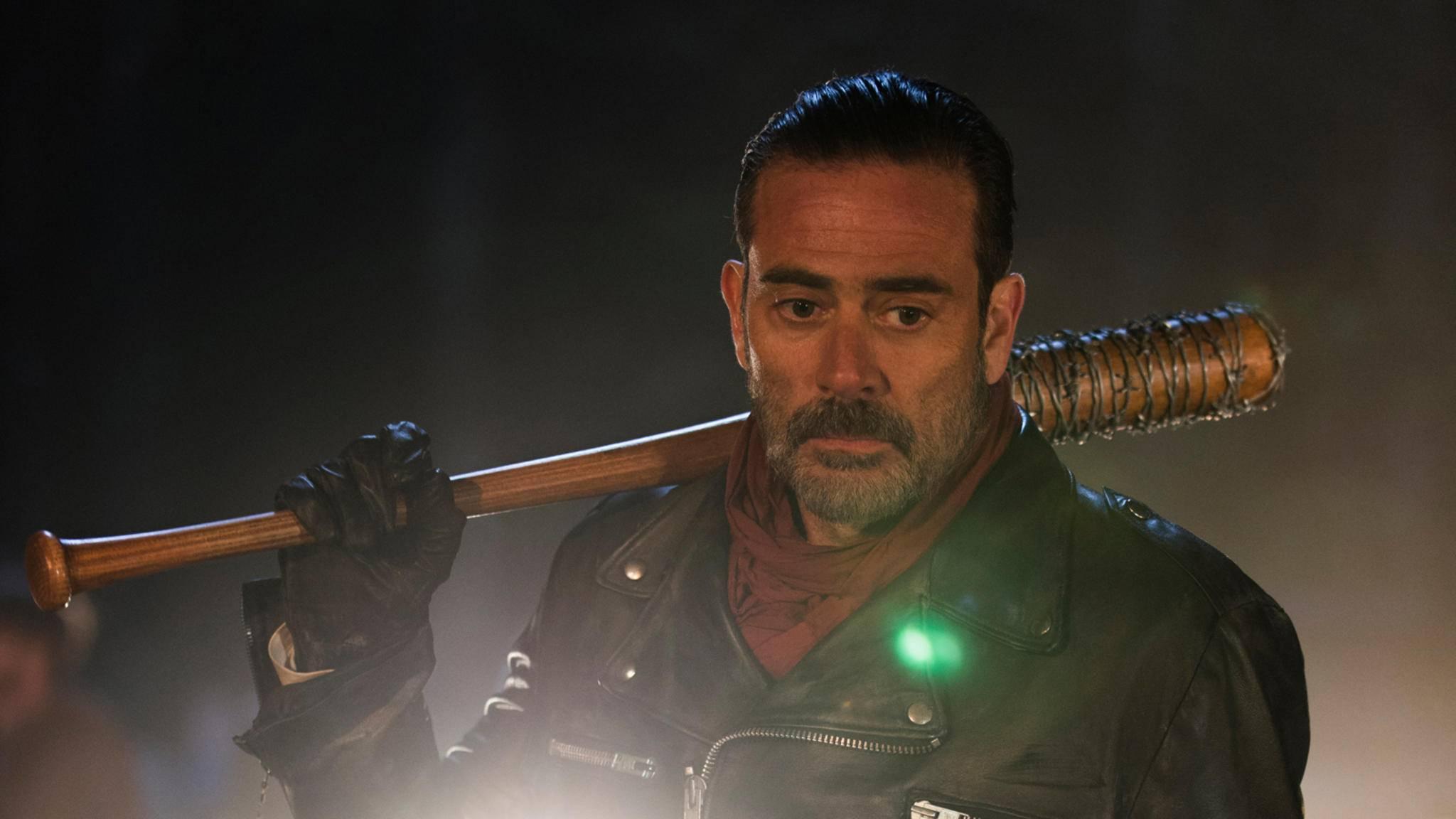 """Selbst an Negan gingen die brutalen """"The Walking Dead""""-Szenen nicht spurlos vorbei."""
