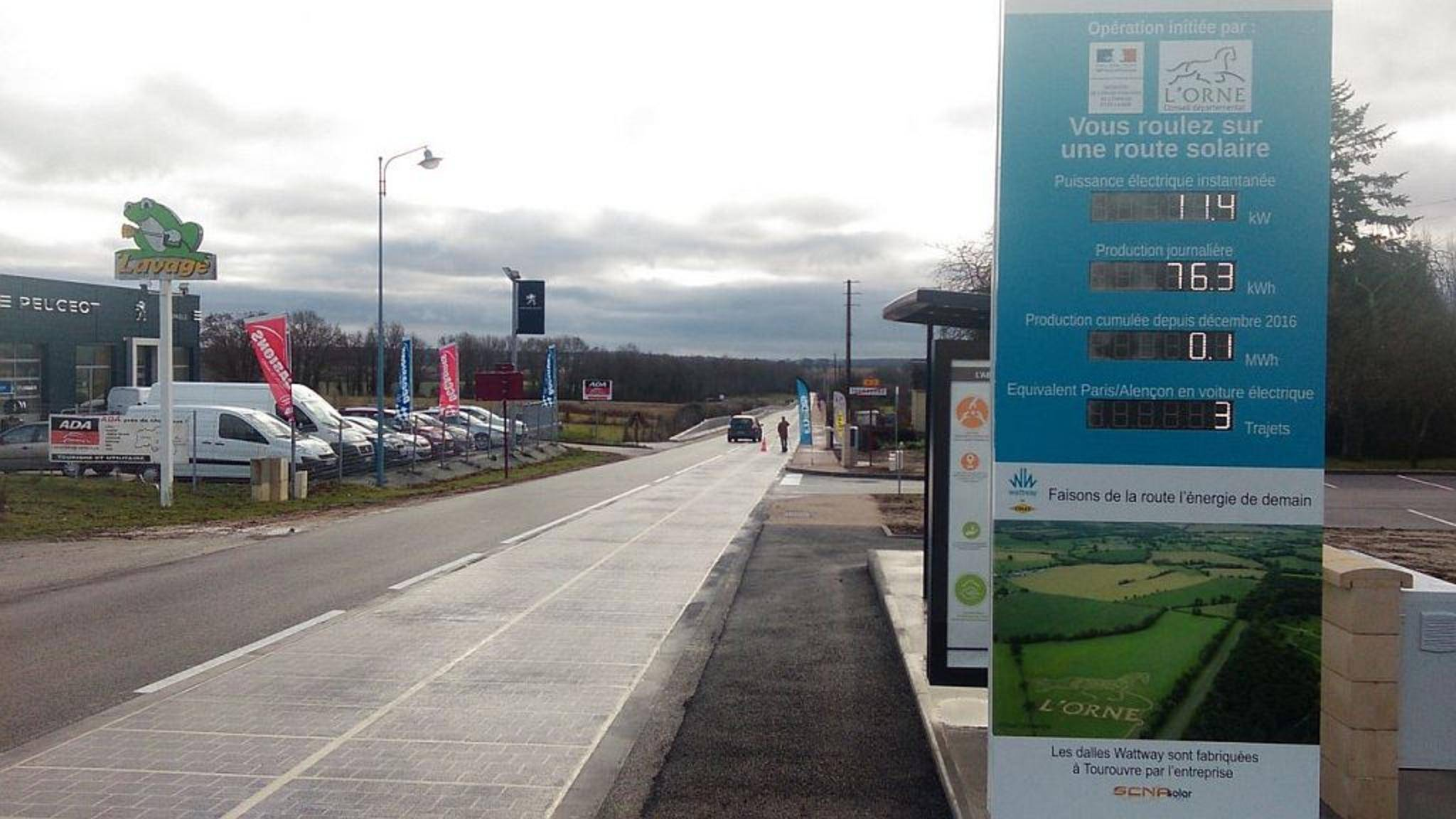 Die Solarstraße in Frankreich sorgt derzeit für Aufsehen.