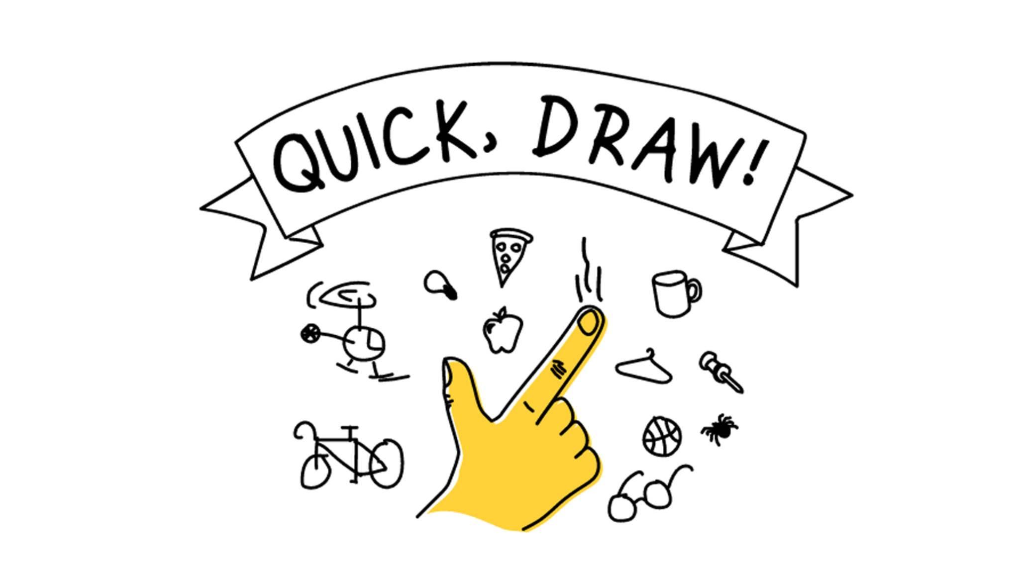 """Zieh und Zeichne! Googles Browser-Game """"Quick, Draw!"""" will Computern beibringen, Zeichnungen zu erkennen."""