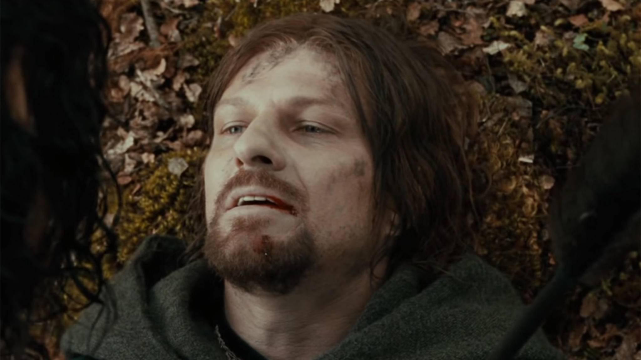 """Armer Sean Bean: Auch in der """"Herr der Ringe""""-Trilogie musste er früh das Zeitliche segnen."""