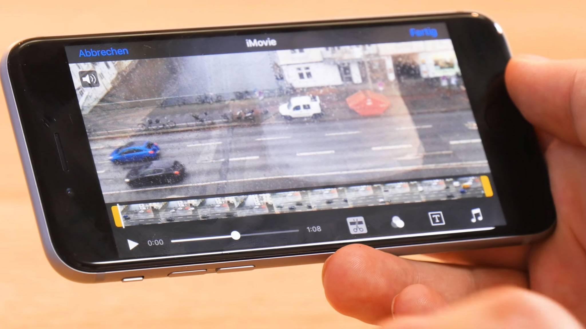Videos im Querformat lassen sich auf dem iPhone auch nachträglich drehen.