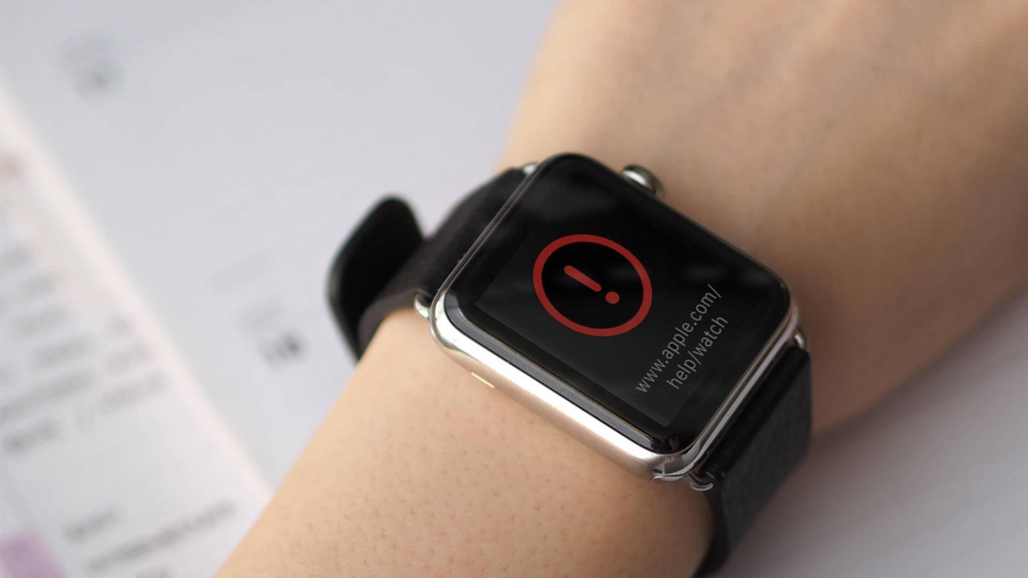 Nichts geht mehr: Wer diese Meldung nach dem neuesten Update erhält, muss sich an Apple wenden.