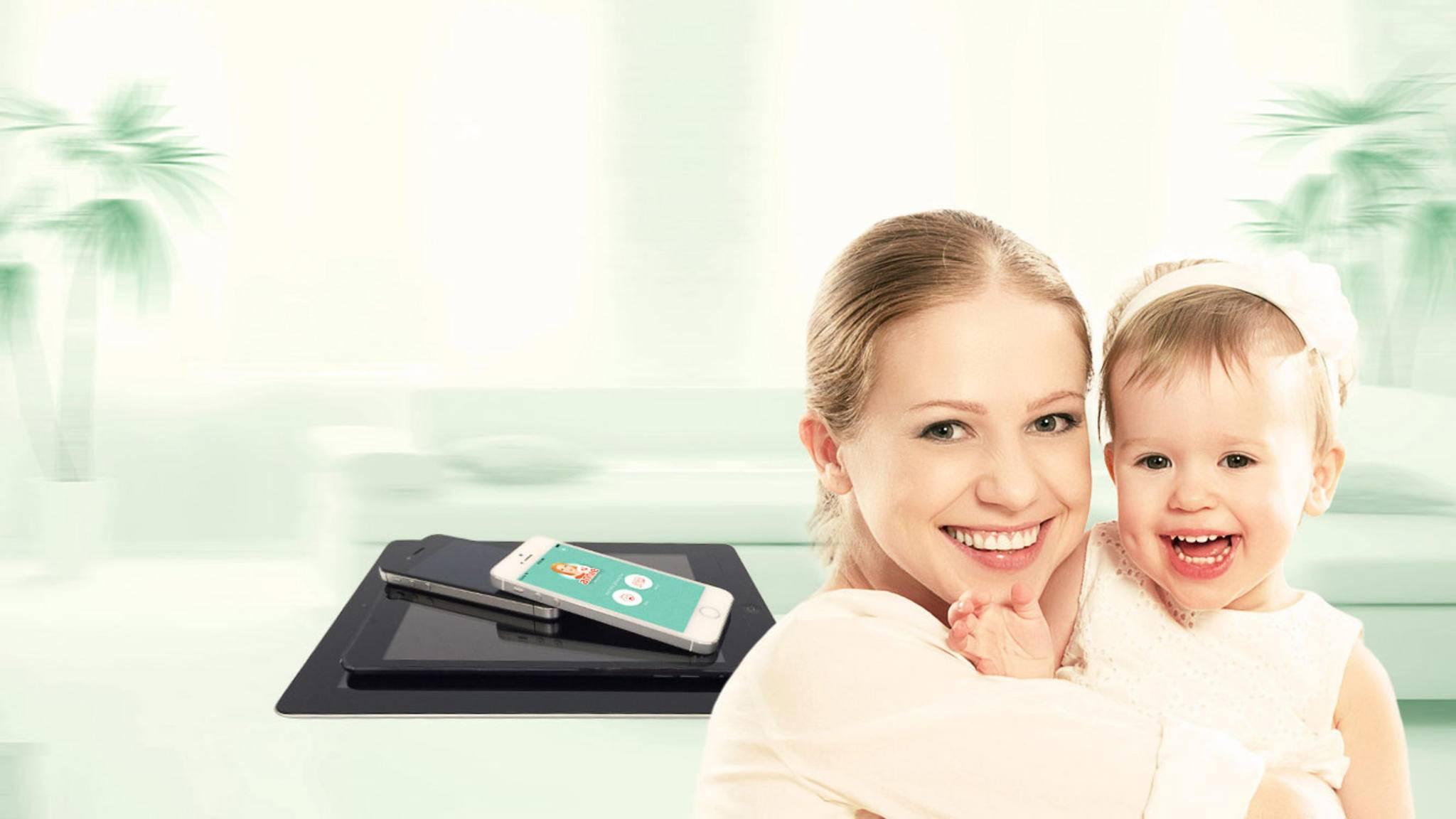 Ein Smartphone wird mit der passenden App im Handumdrehen zum Babyfon.