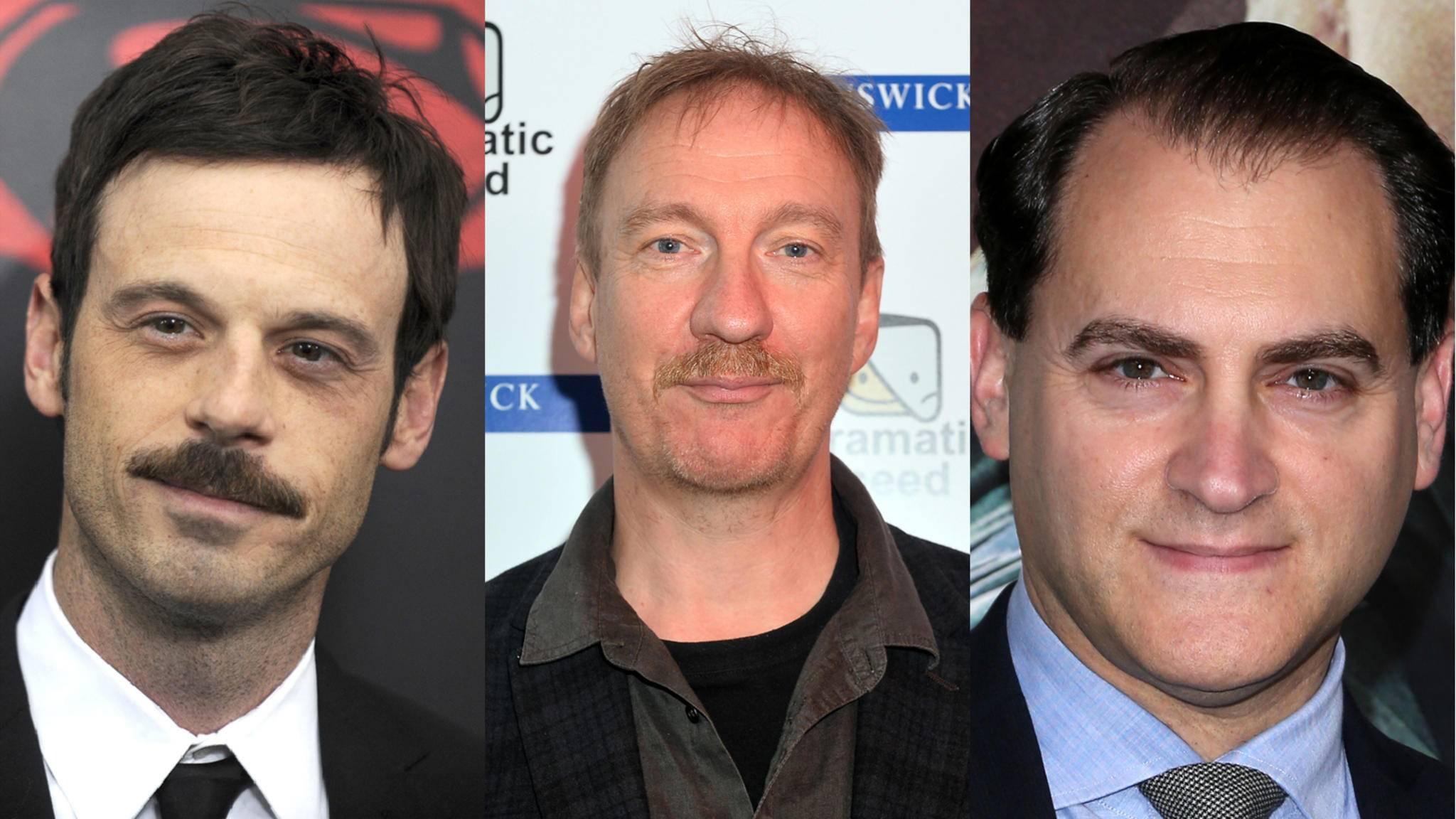"""Scoot McNairy, David Thewlis und Michael Stuhlbarg (v.l.n.r.) gehören zu den finalen Neuzugängen der dritten """"Fargo""""-Staffel."""