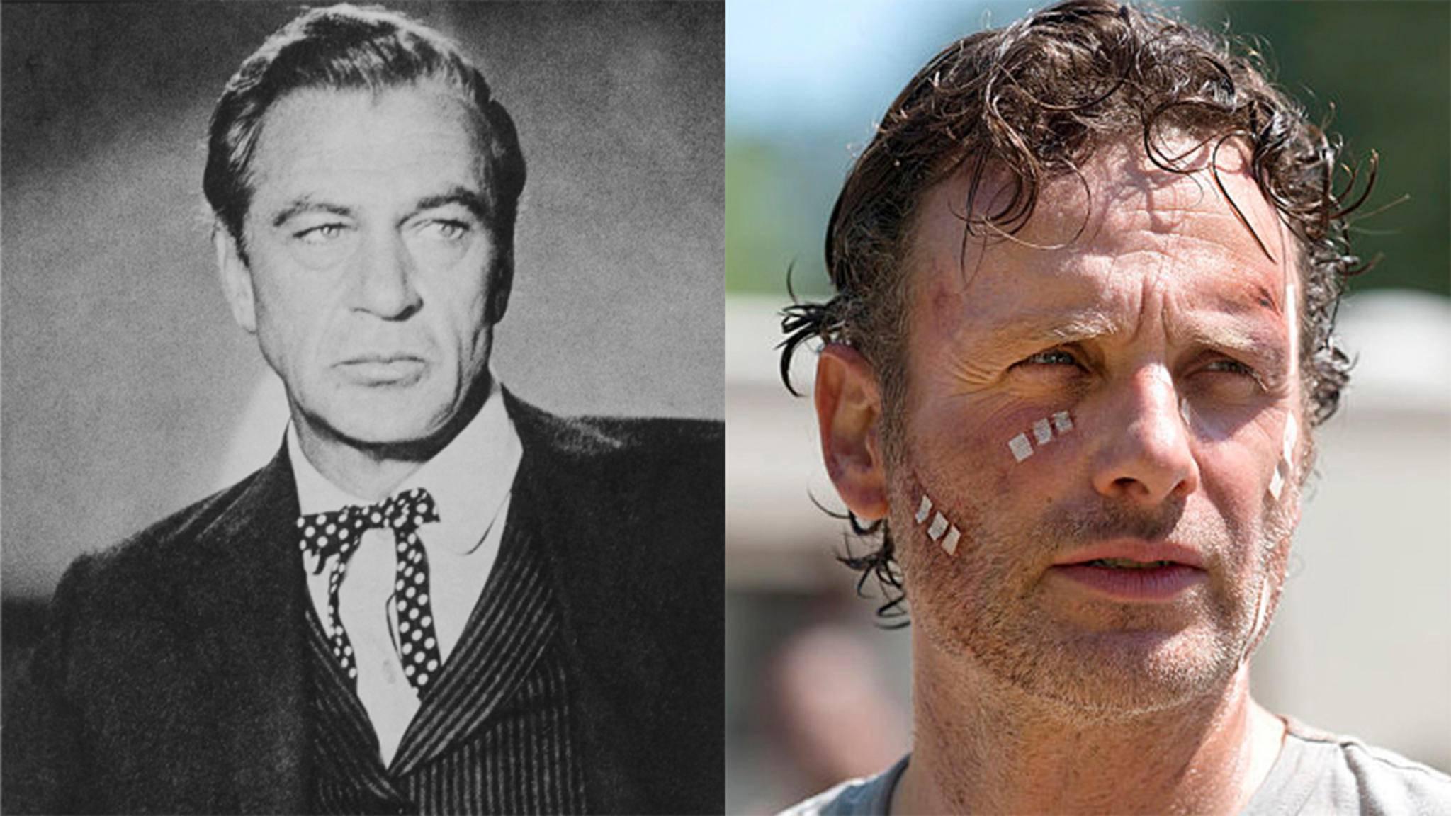 Vom Original abgekupfert: Rick Grimes (r.) und Sheriff Will Kane (l.).