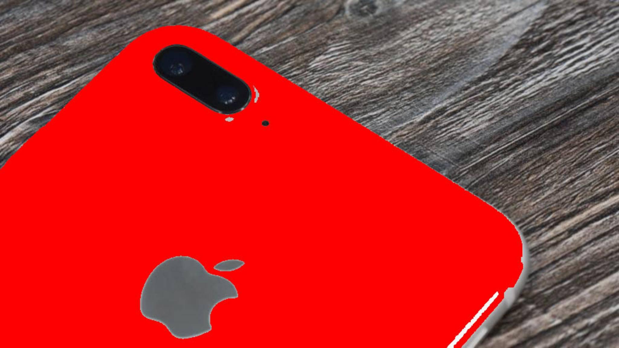Das iPhone 7s soll auch in roter Farbe erscheinen.