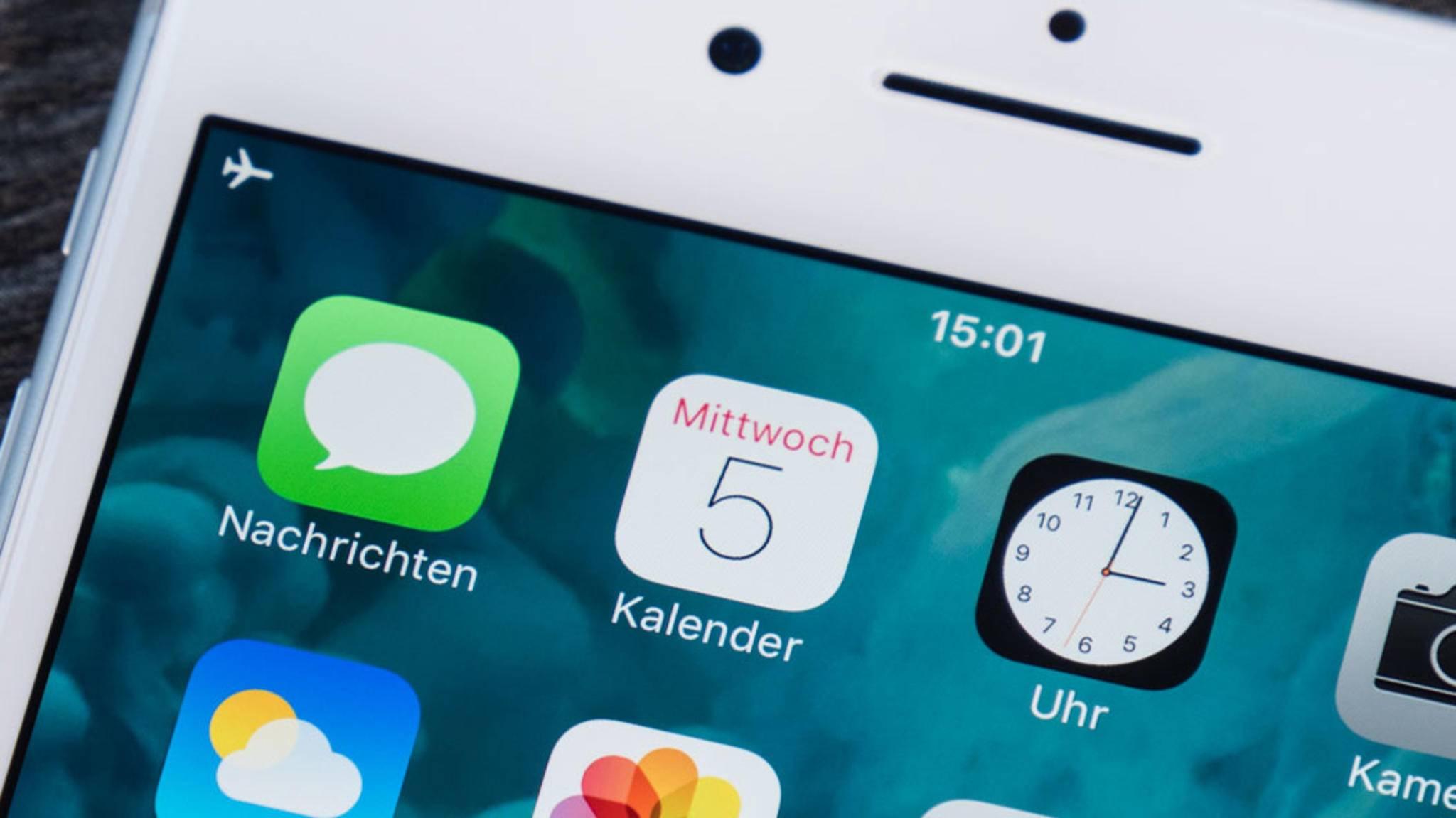 Mit Wochenzahlen wird die Kalender-App auf dem iPhone noch praktischer.