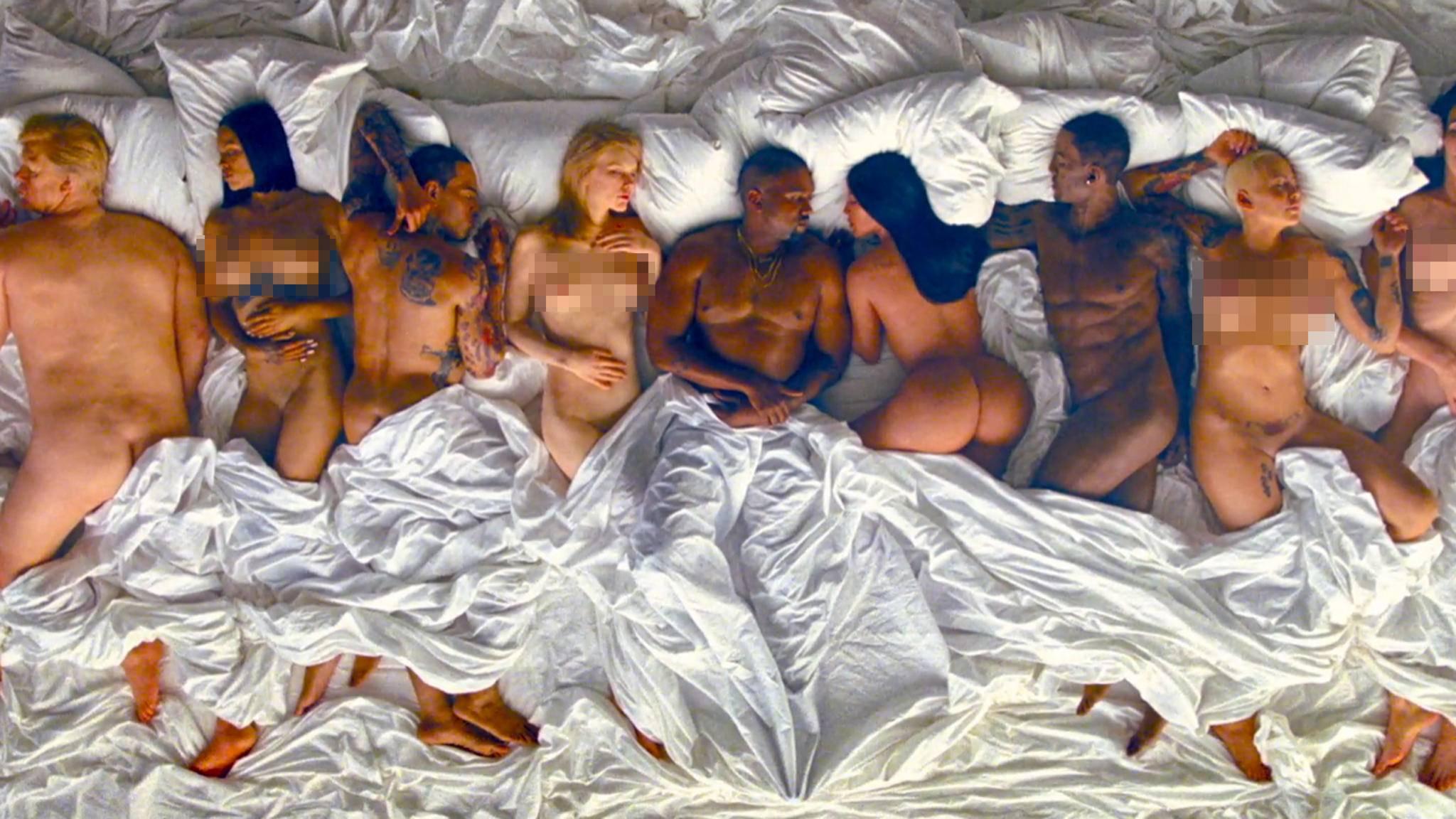 """Ein kurzer Einblick in das Musikvideo zu """"Famous"""" von Kanye West zeigt: Es ist Provokation pur!"""