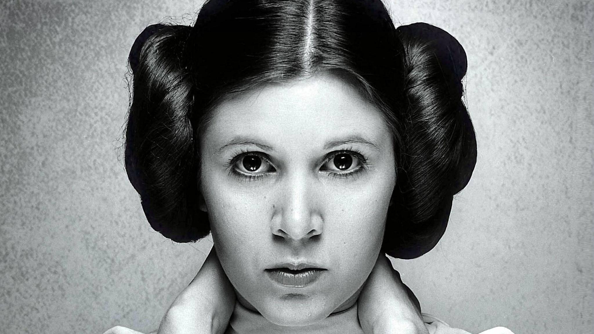 "Ihre berühmteste Rolle: Carrie Fisher als Prinzessin Leia in ""Star Wars""."