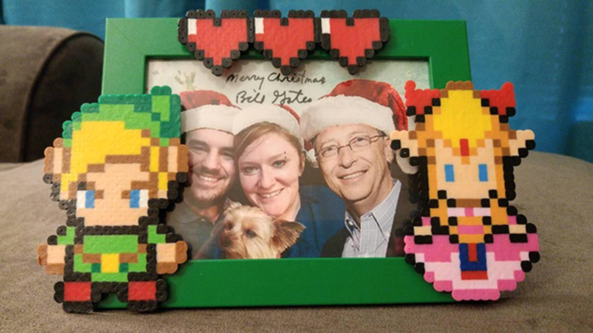 Bill Gates schenkte Aerrix wunderbar persönliche Geschenke.