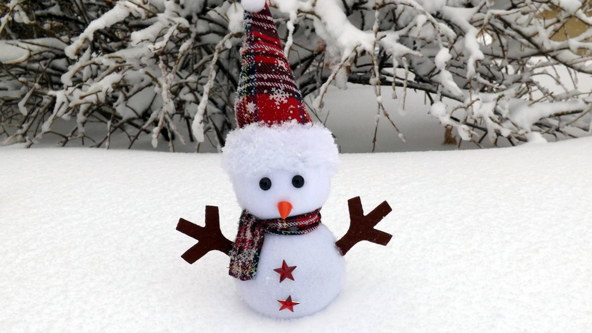 Dieser Schneemann ist schon ziemlich klein. Aber: Es geht noch viel, viel kleiner!