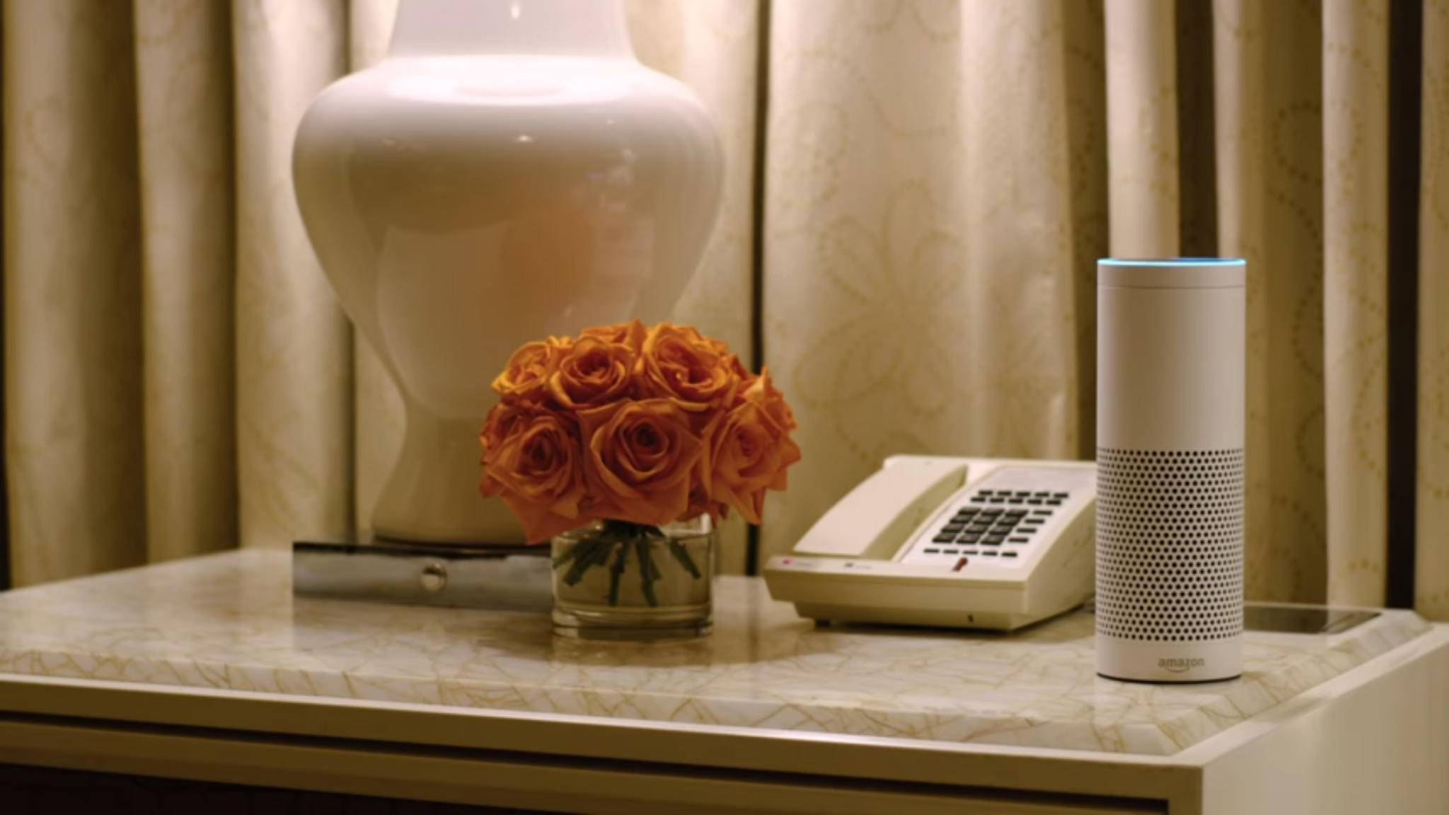 Bald Teil der Ausstattung im Luxushotel Wynn in Vegas: Amazons Lautsprecher Echo und Sprachassistentin Alexa.