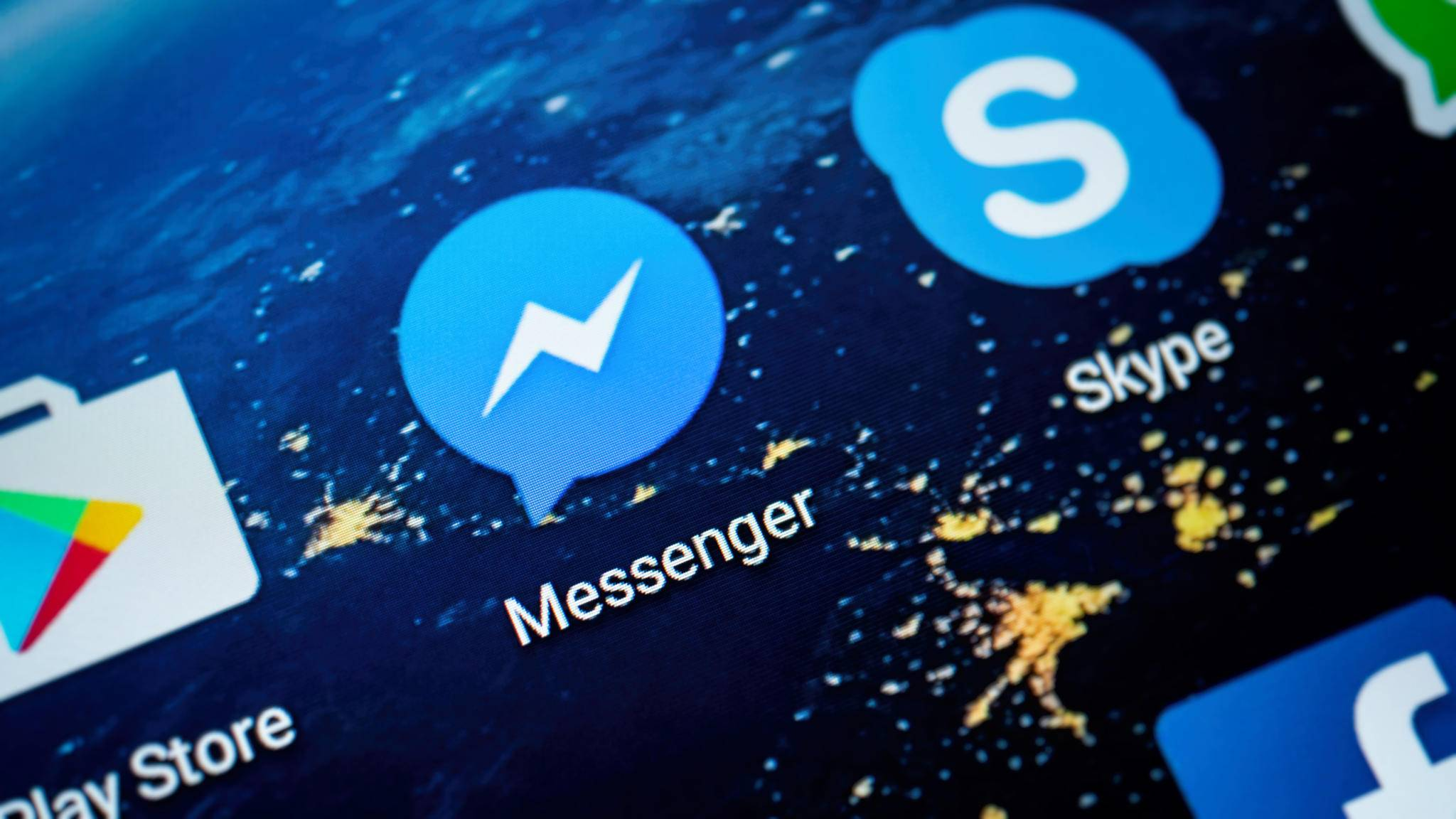 Anders als die Facebook-App hat der Messenger keinen Abmelde-Button.