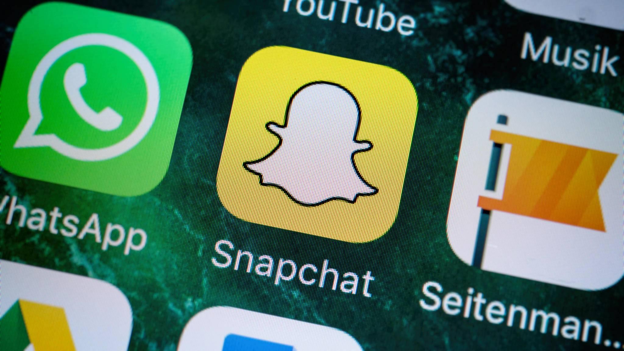 Soziale Medien wie Snapchat laufen auch auf Einsteiger-Smartphones rund.