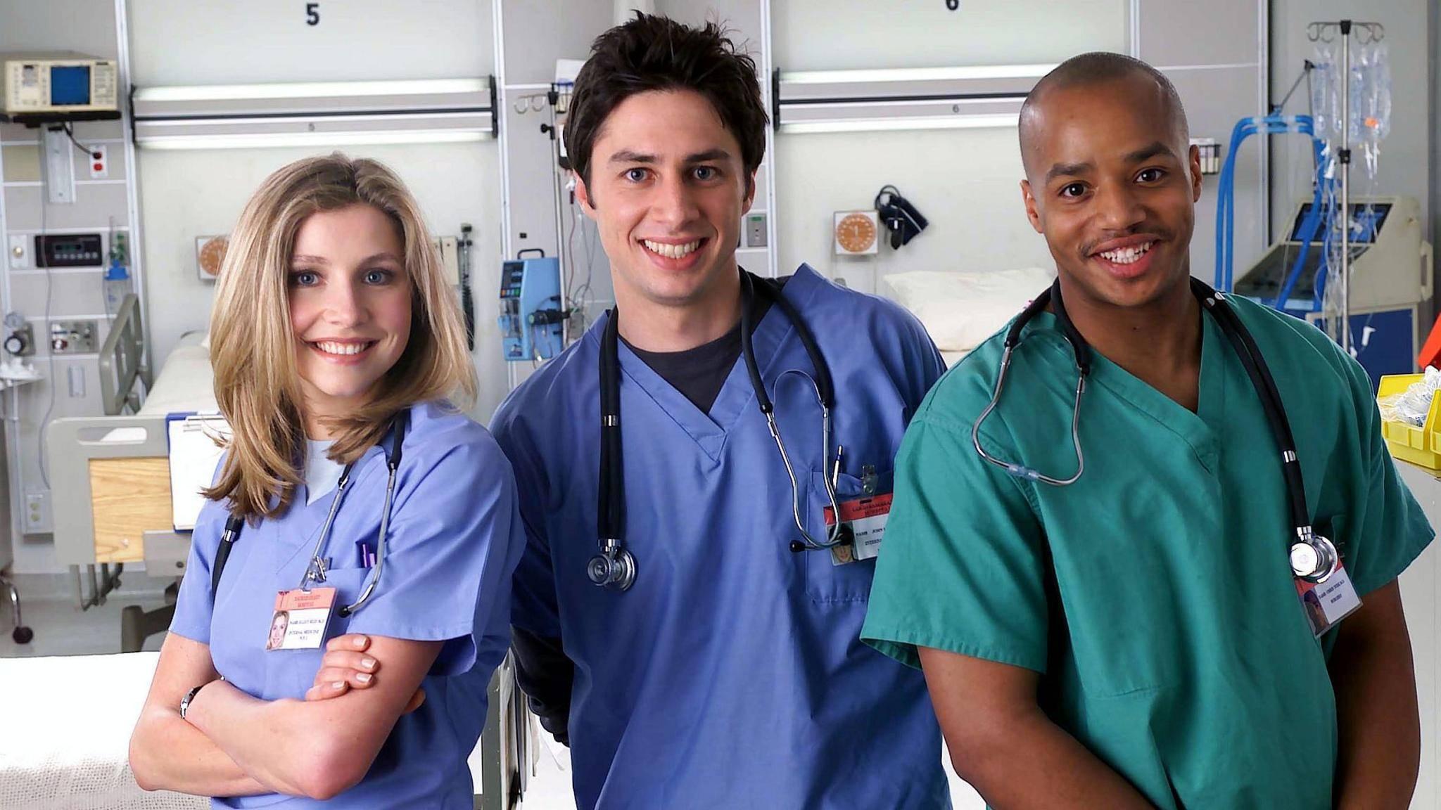 """Die Krankenhaus-Comedy """"Scrubs"""" strapazierte Jahre lang die Lachmuskeln der Zuschauer."""