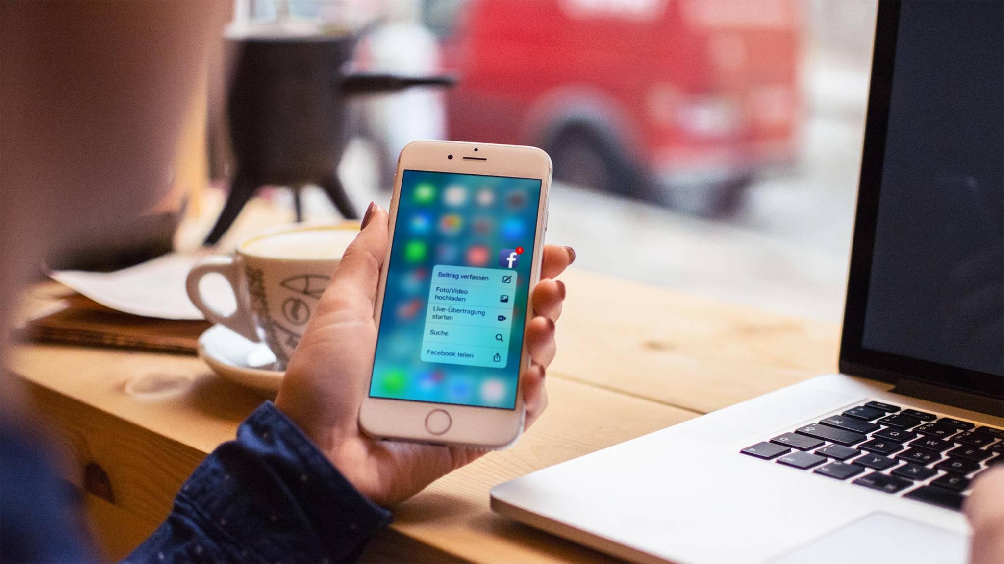 3D Touch nutzt das druckempfindliche Display neuerer iPhones.