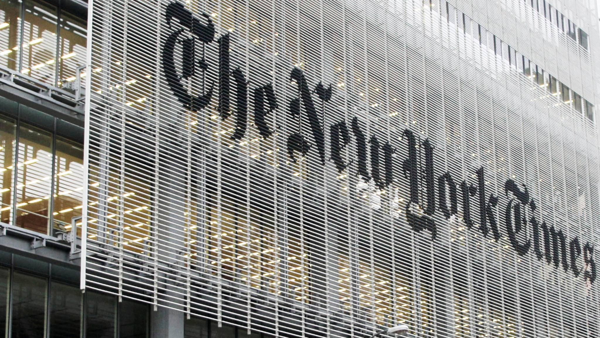 In China nicht gern gesehen: Die New York Times.