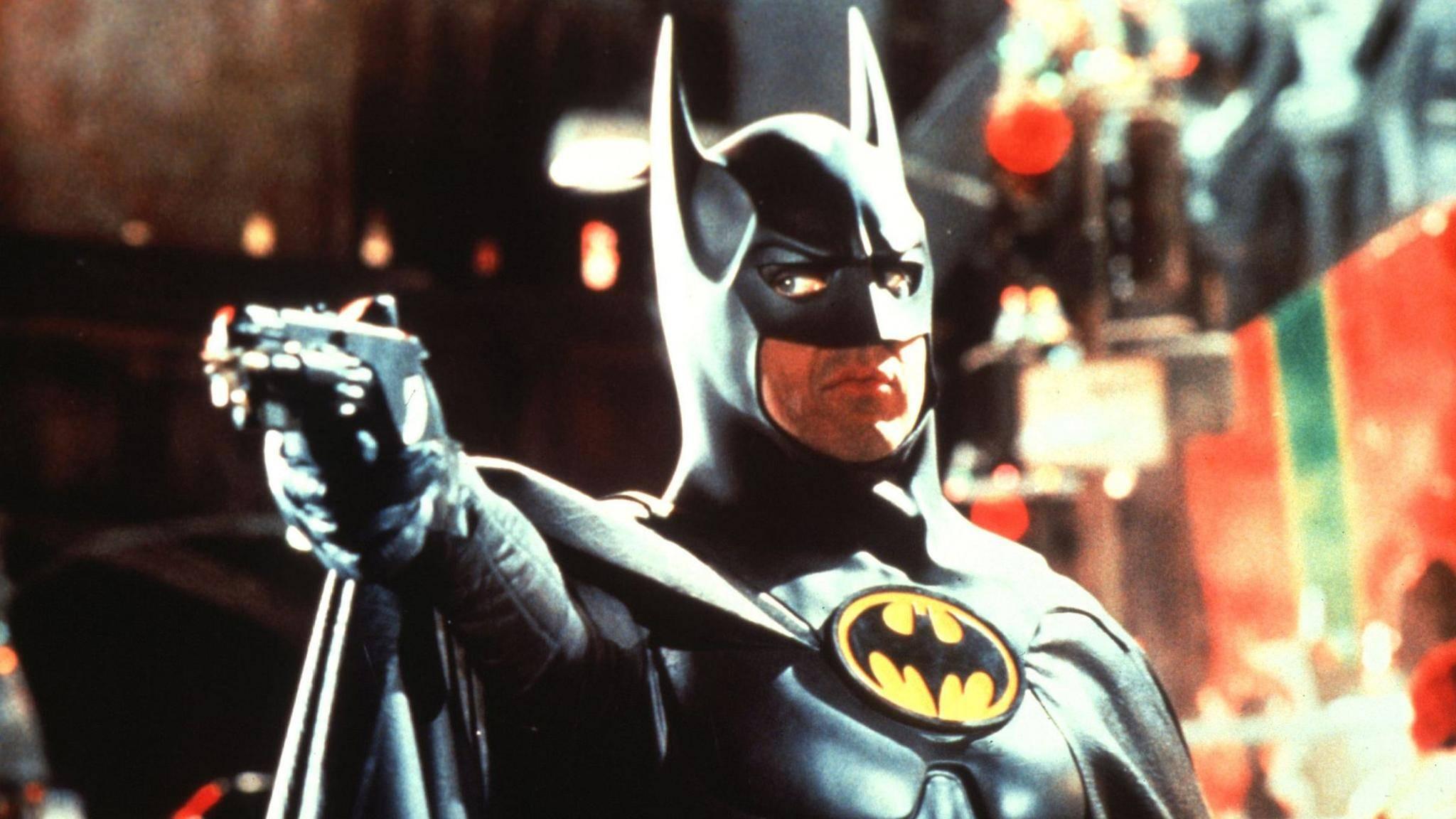 "Michael Keaton in ""Batmans Rückkehr"" (1992)."