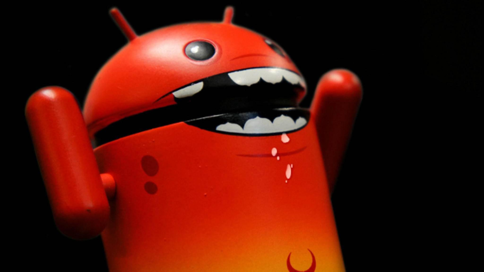 Bei einem veränderten Bootloader kann Android Alarm schlagen.
