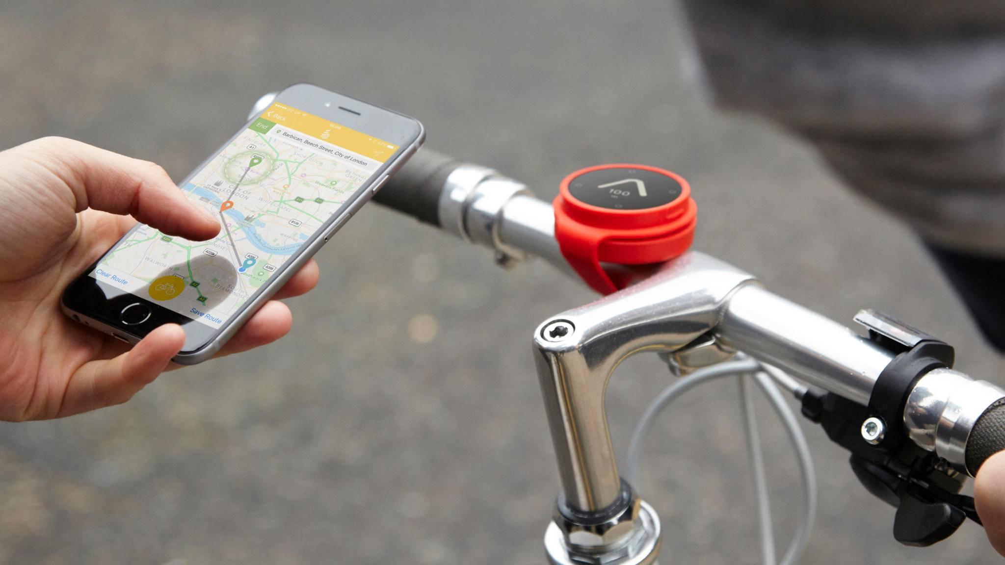Besser als ein herkömmliches Navi? Der Beeline-Fahrradkompass.
