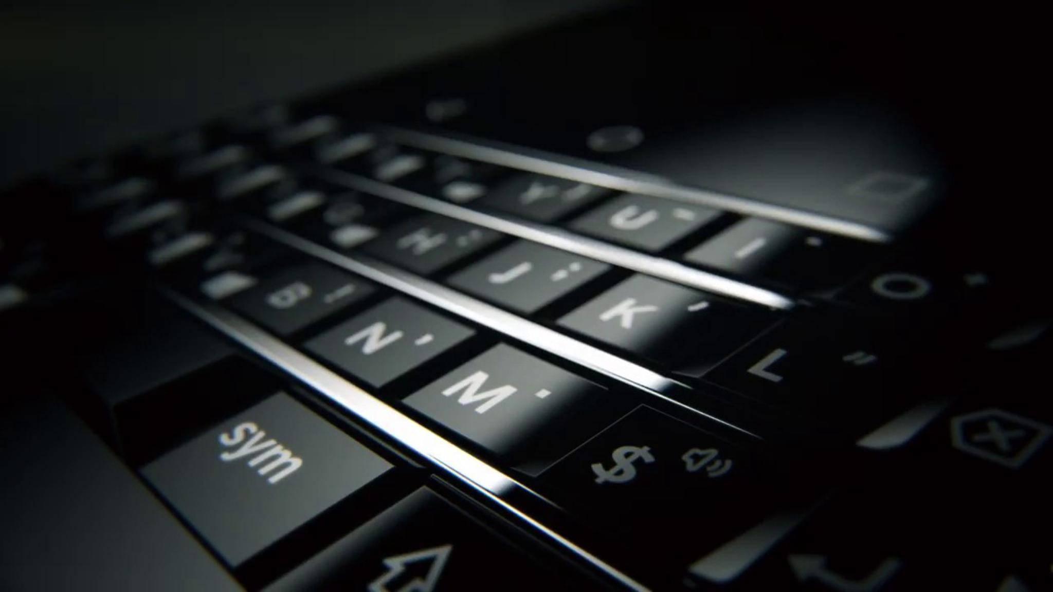 Das Mercury bekommt die typische BlackBerry-Tastatur.