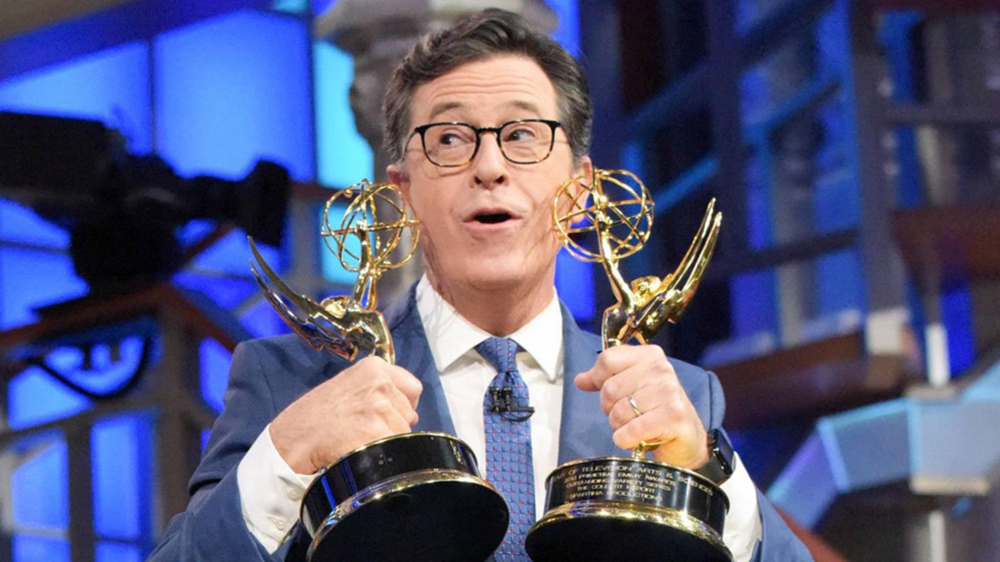 Bissig: Stephen Colbert gewann mit Satire-Formaten neun Emmys. Nun moderiert er den Fernsehpreis selbst.