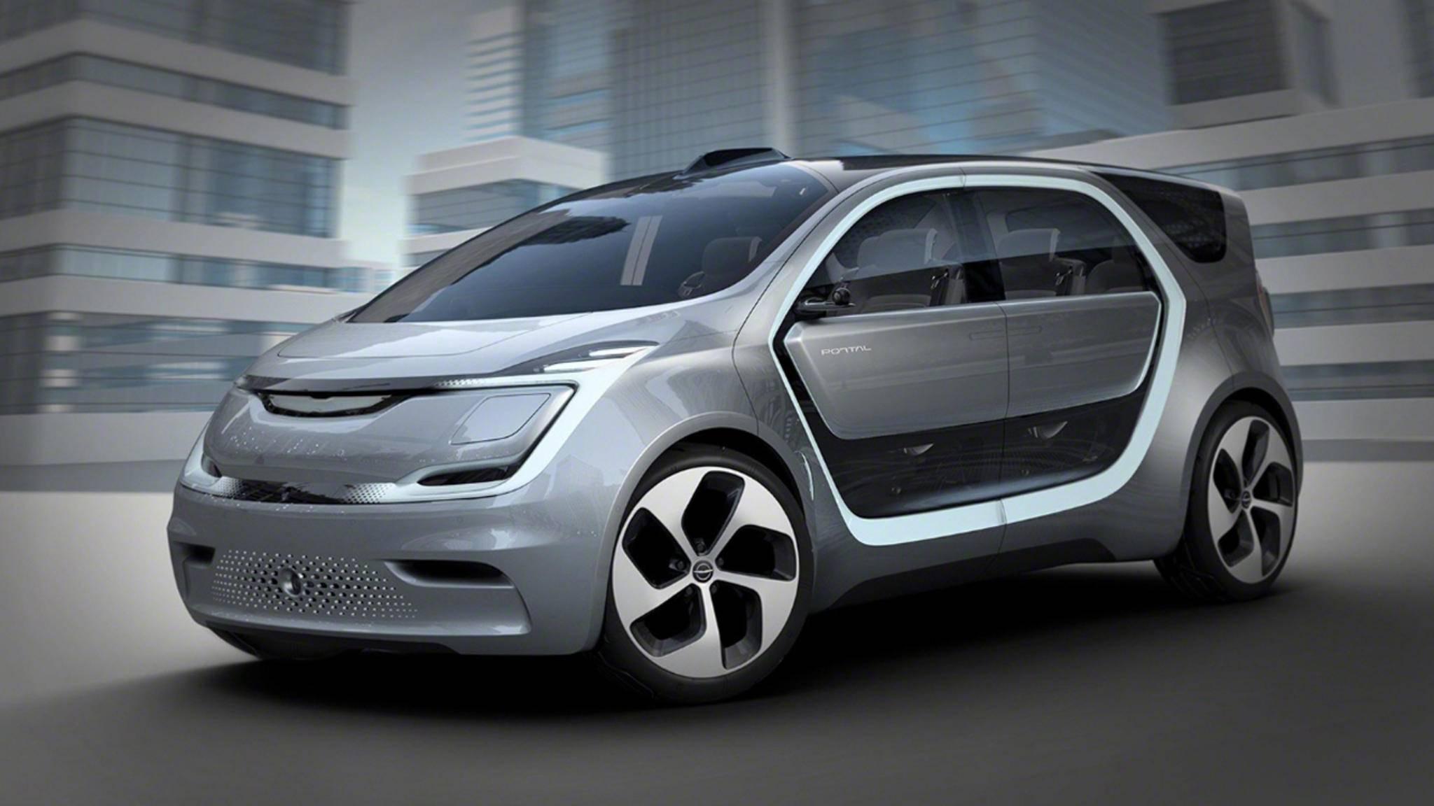 Das Chrysler Portal Concept gibt mit allerlei High-Tech im Inneren einen Vorgeschmack auf das Auto der Zukunft.