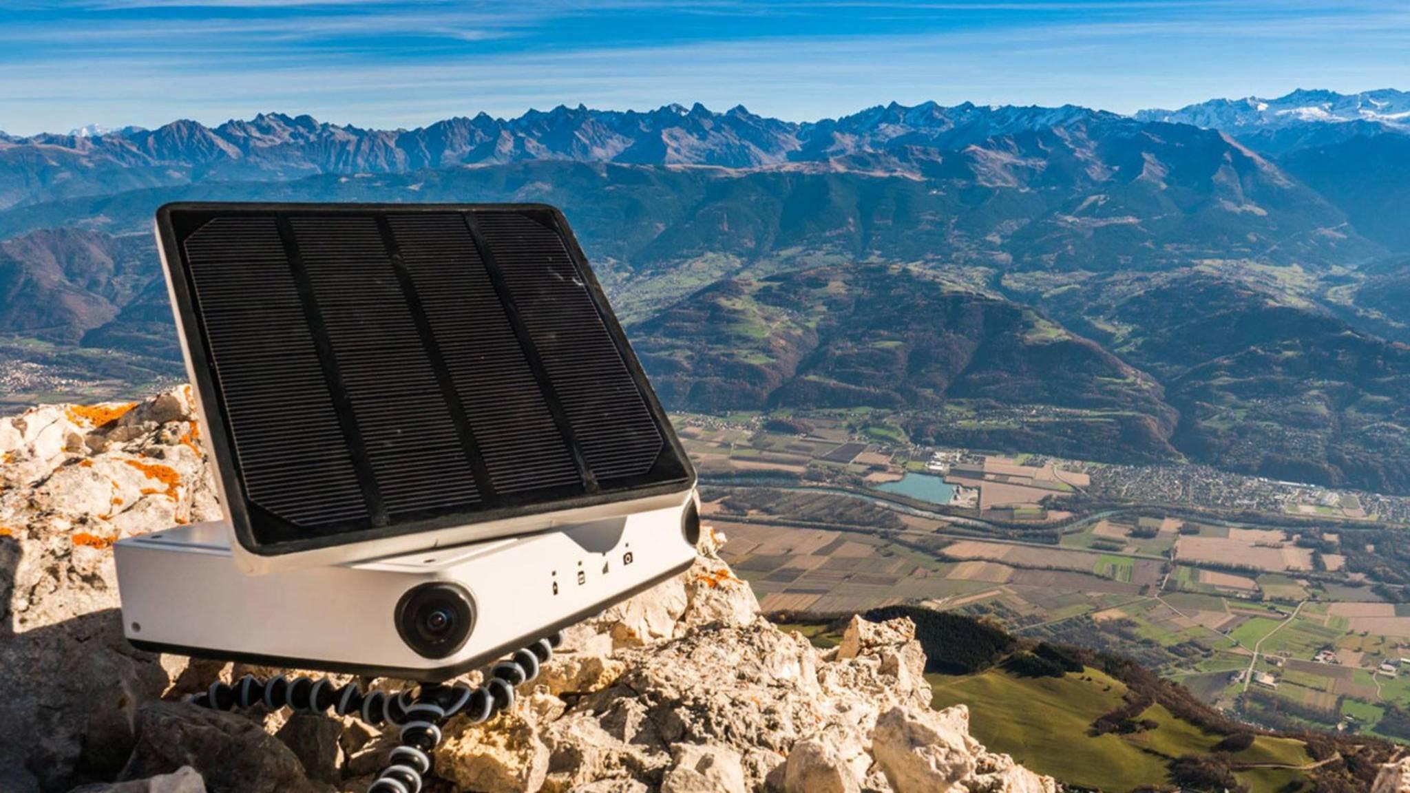 Die Enlaps Tikee bietet dank Solarzelle unbegrenzte Akkulaufzeit.