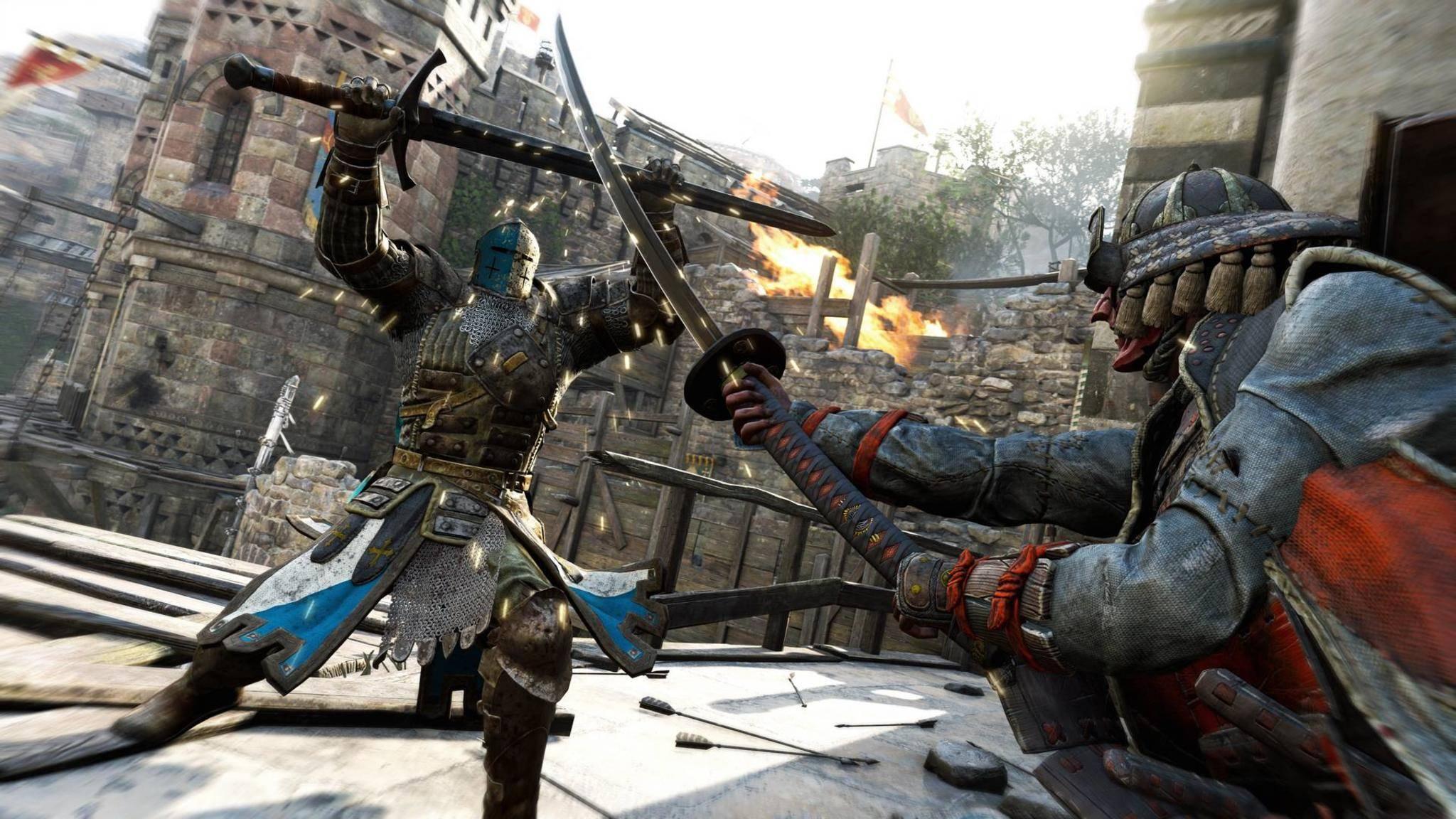 """In """"For Honor"""" bekämpfen sich unter anderem Samurai und Ritter."""