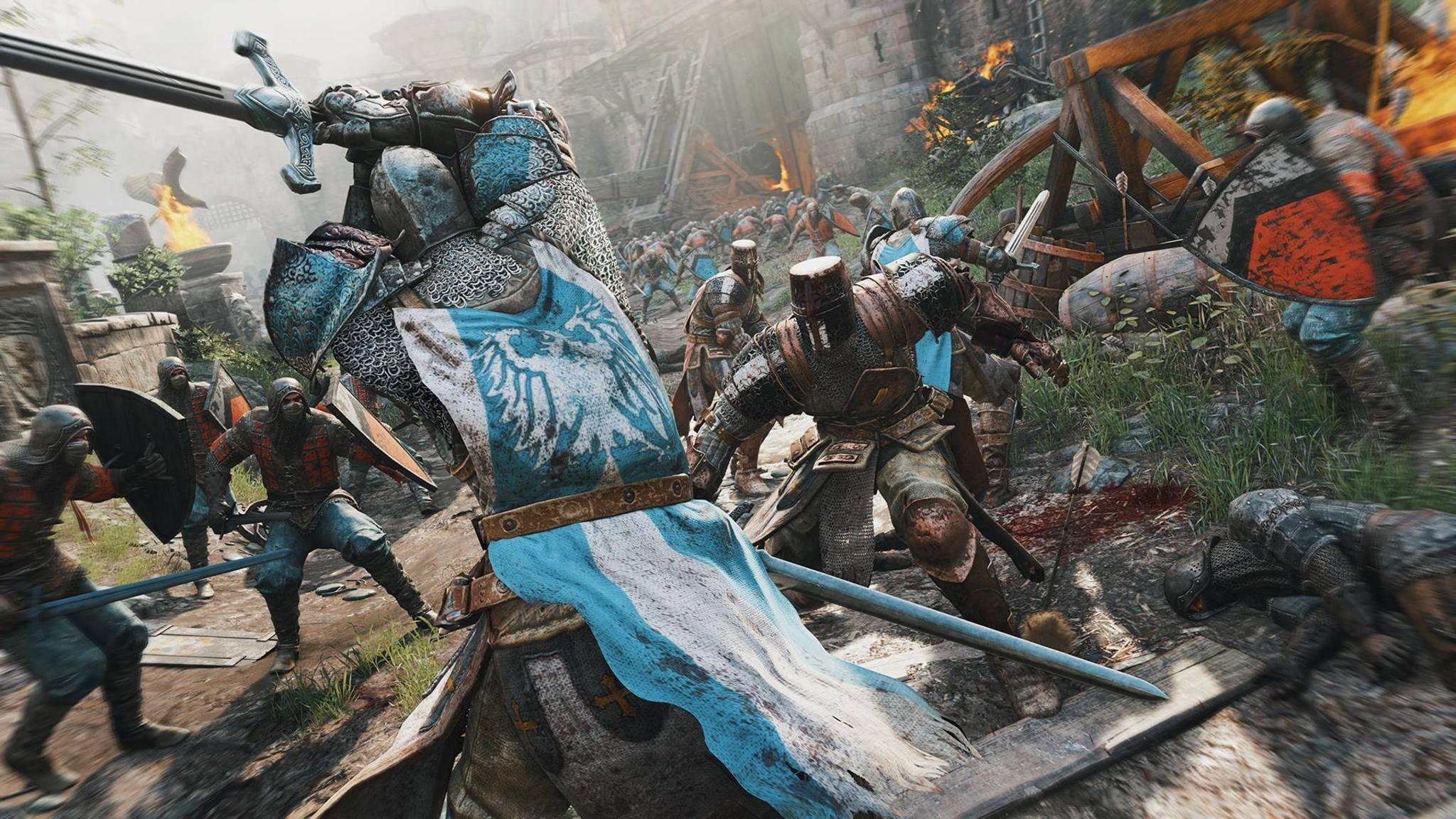 """Bei """"For Honor"""" kann man sich als Ritter, Wikinger oder Samurai versuchen."""
