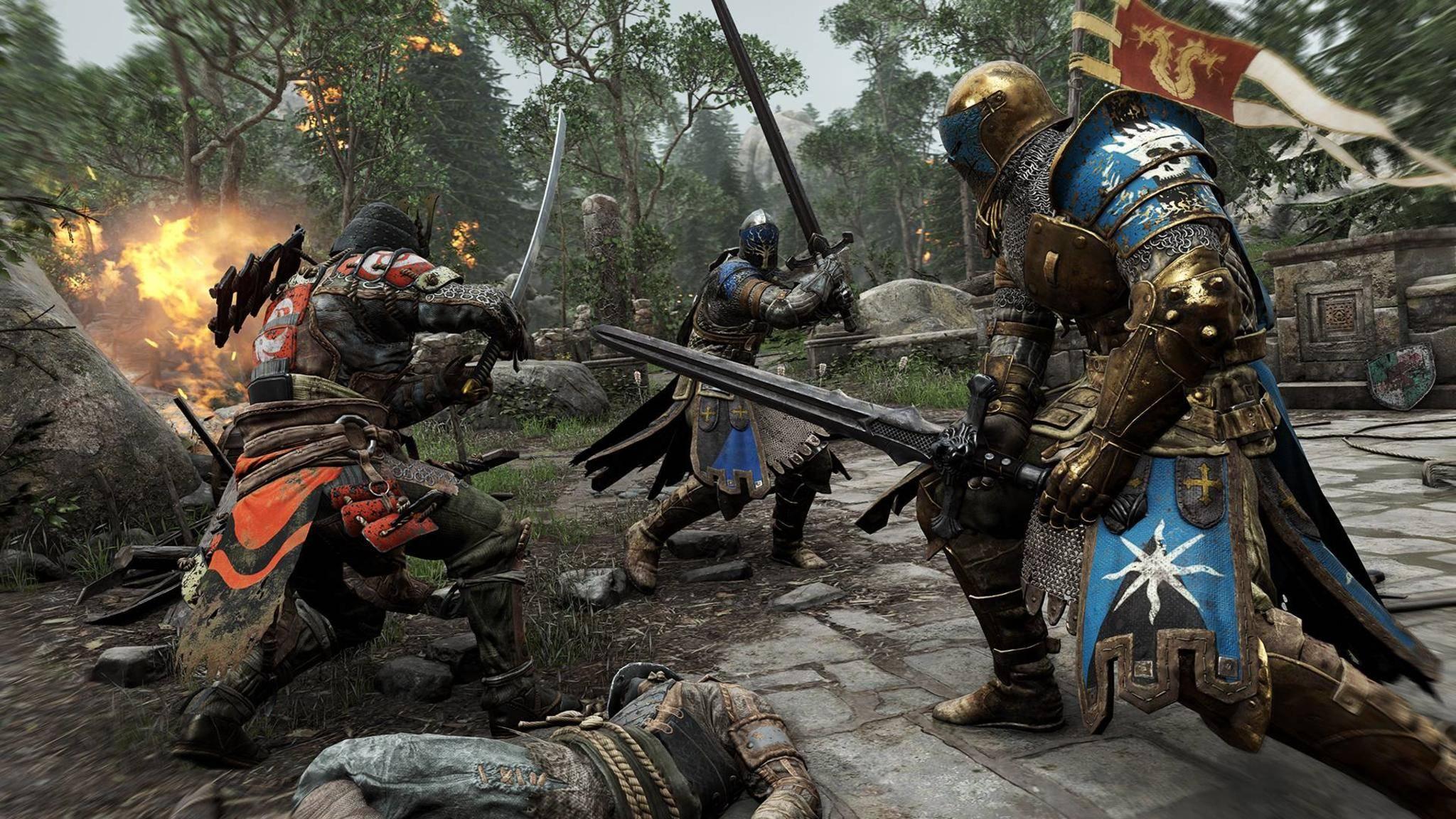 """In """"For Honor"""" kämpft der Spieler entweder als Ritter, Wikinger oder Samurai."""