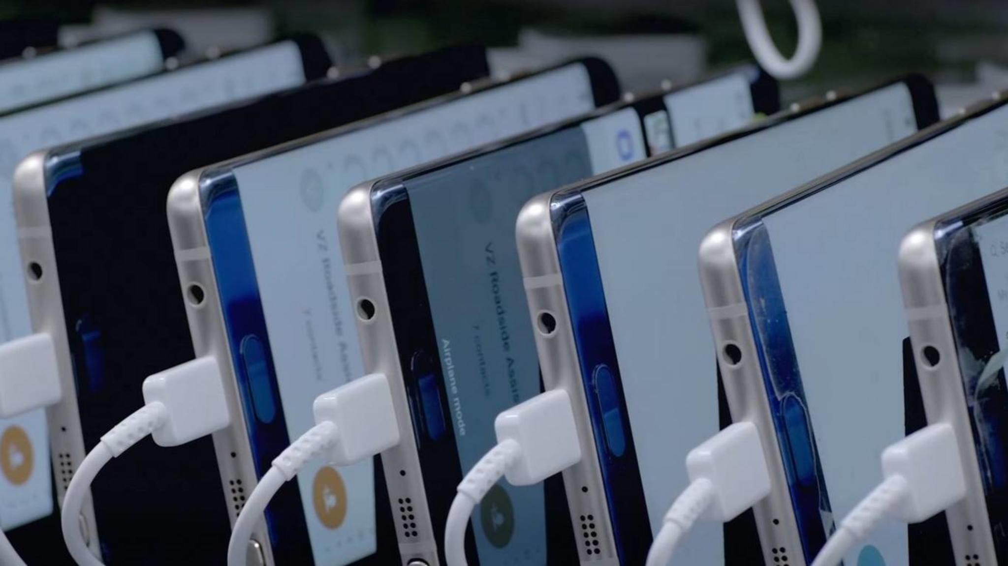 Alte Galaxy-Note-7-Modelle werden bei Samsung ausgeschlachtet.