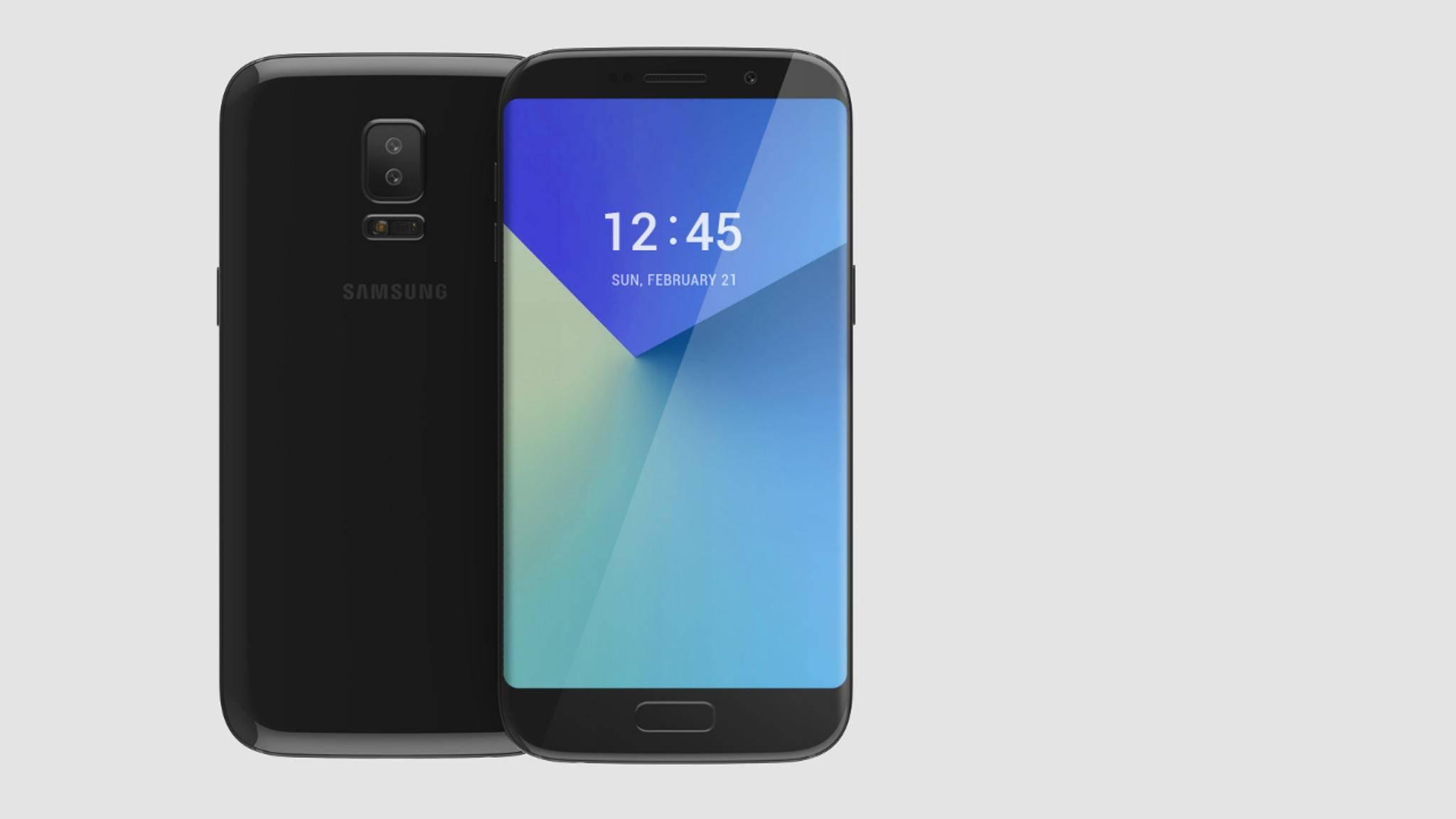 Bei diesem Galaxy S8-Konzept sitzt der Blitz unter der Dual-Kamera.