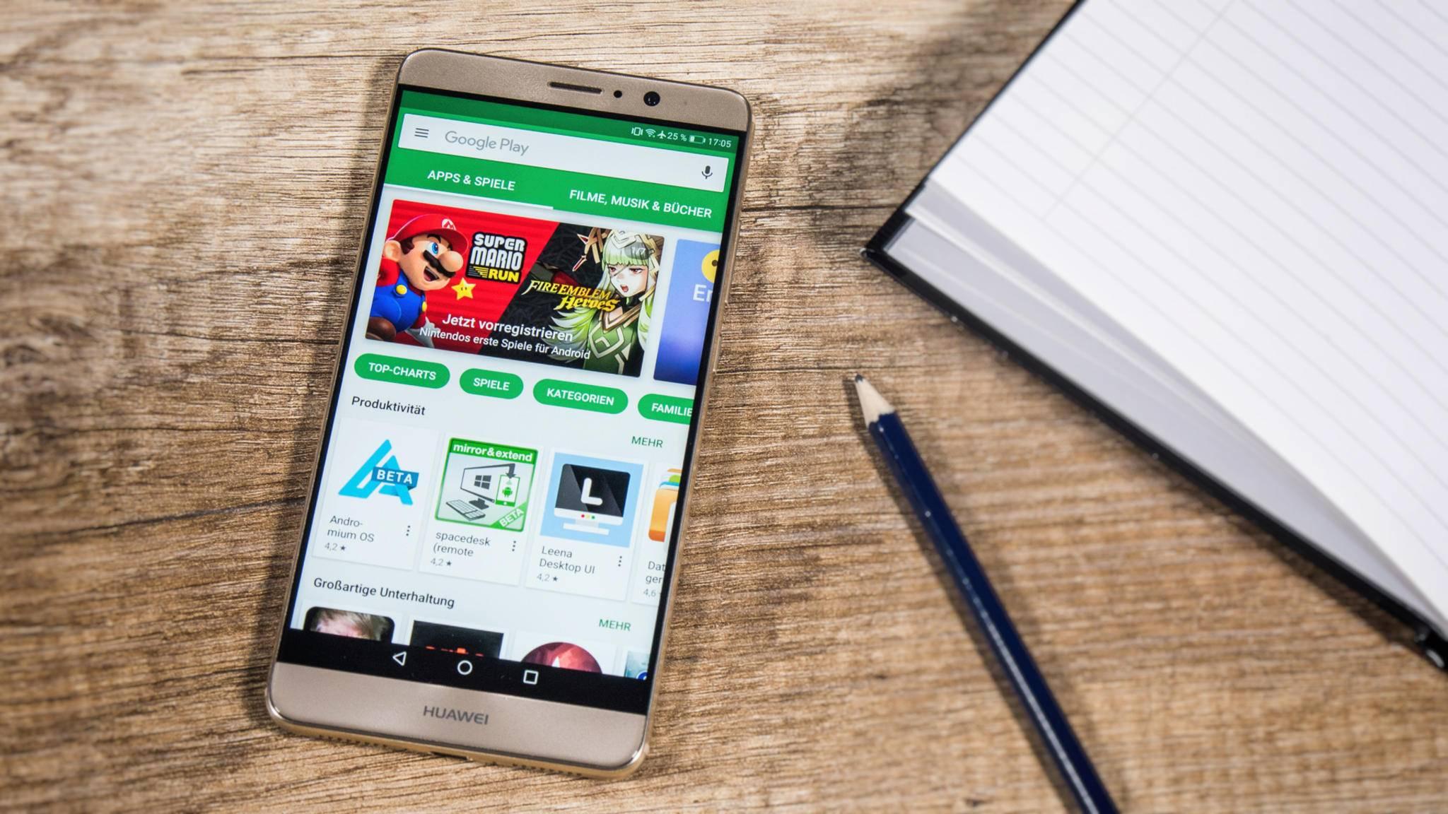 Google Play hat eine ähnliche große Auswahl wie der App Store – aber die Apps werden nicht genauso gründlich kontrolliert.