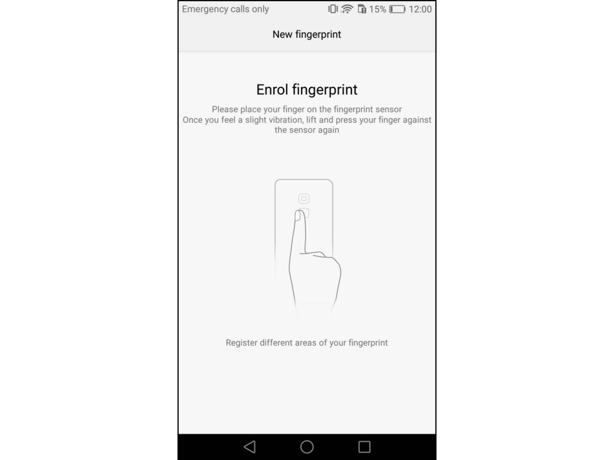 Der Fingerabdruckscanner kann zum Entsperren der Smartphones verwendet werden.