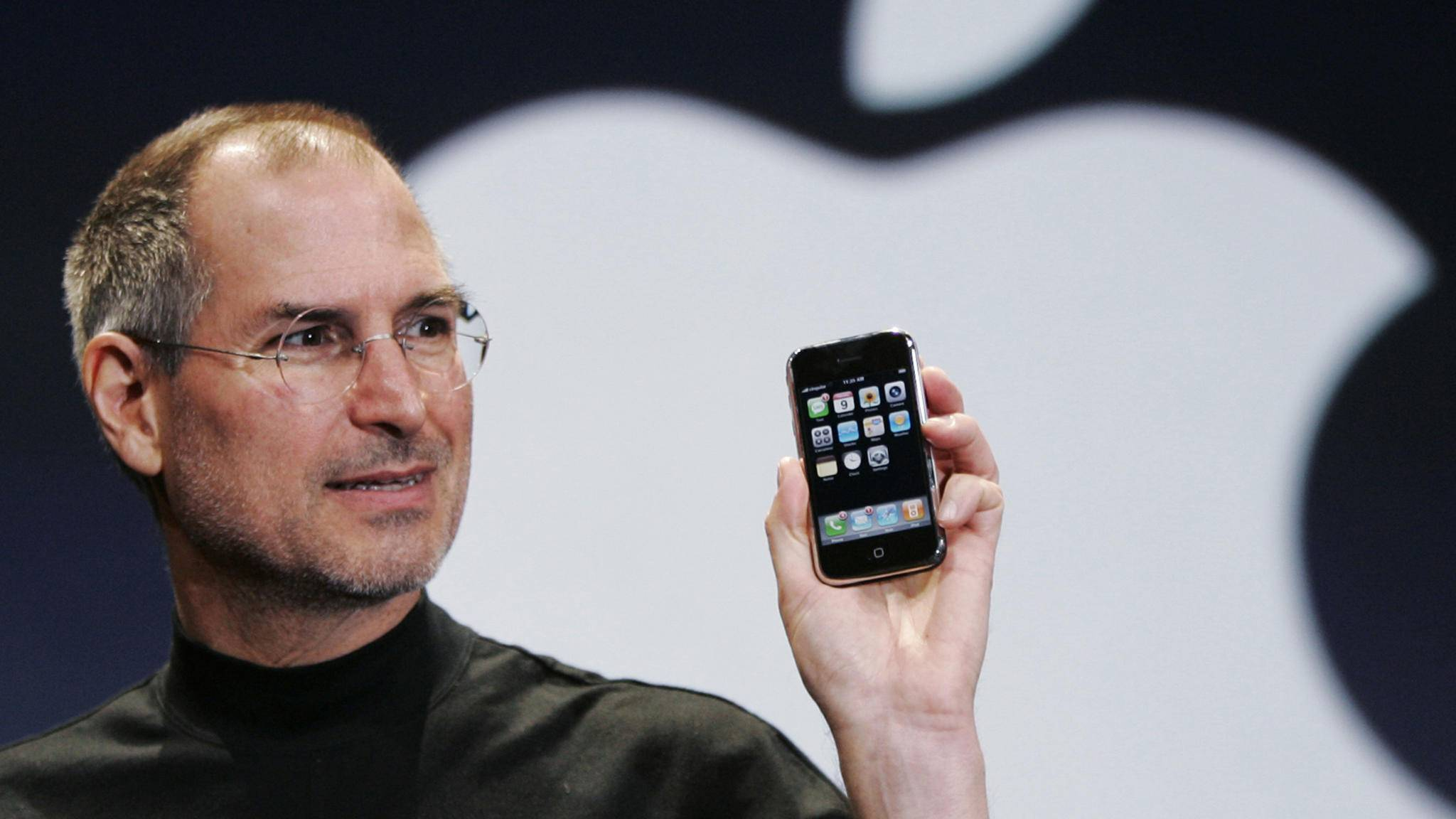 Bei der ersten iPhone-Keynote waren für die perfekte Präsentation einige Tricks notwendig.