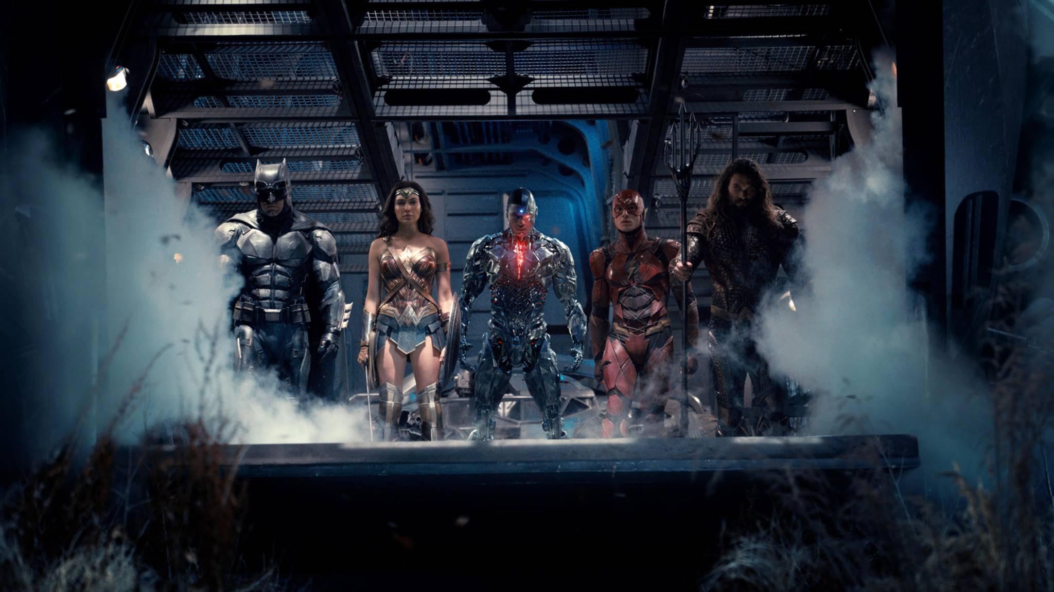 """Gemeinsam sind sie stark: Die Mitglieder der """"Justice League""""."""