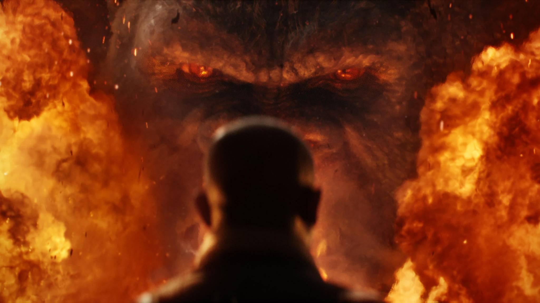 Groß, größer, Kong: Der König des Dschungels bekommt im neuen Trailer jede Menge Aufmerksamkeit.