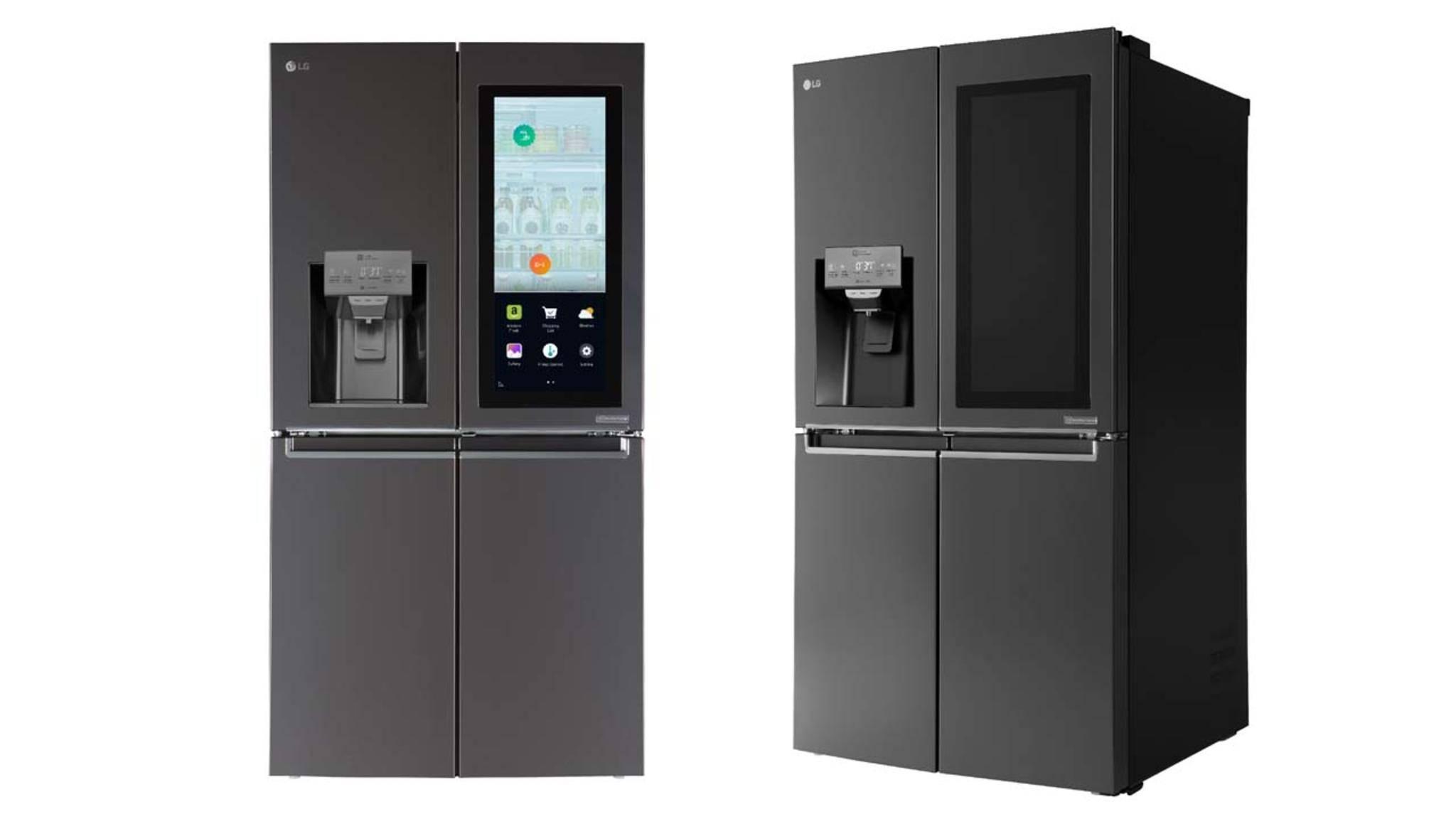 Mehr als ein gewöhnlicher Kühlschrank: Der LG Smart InstaView besitzt einen Touchscreen und eine Sprachsteuerung.