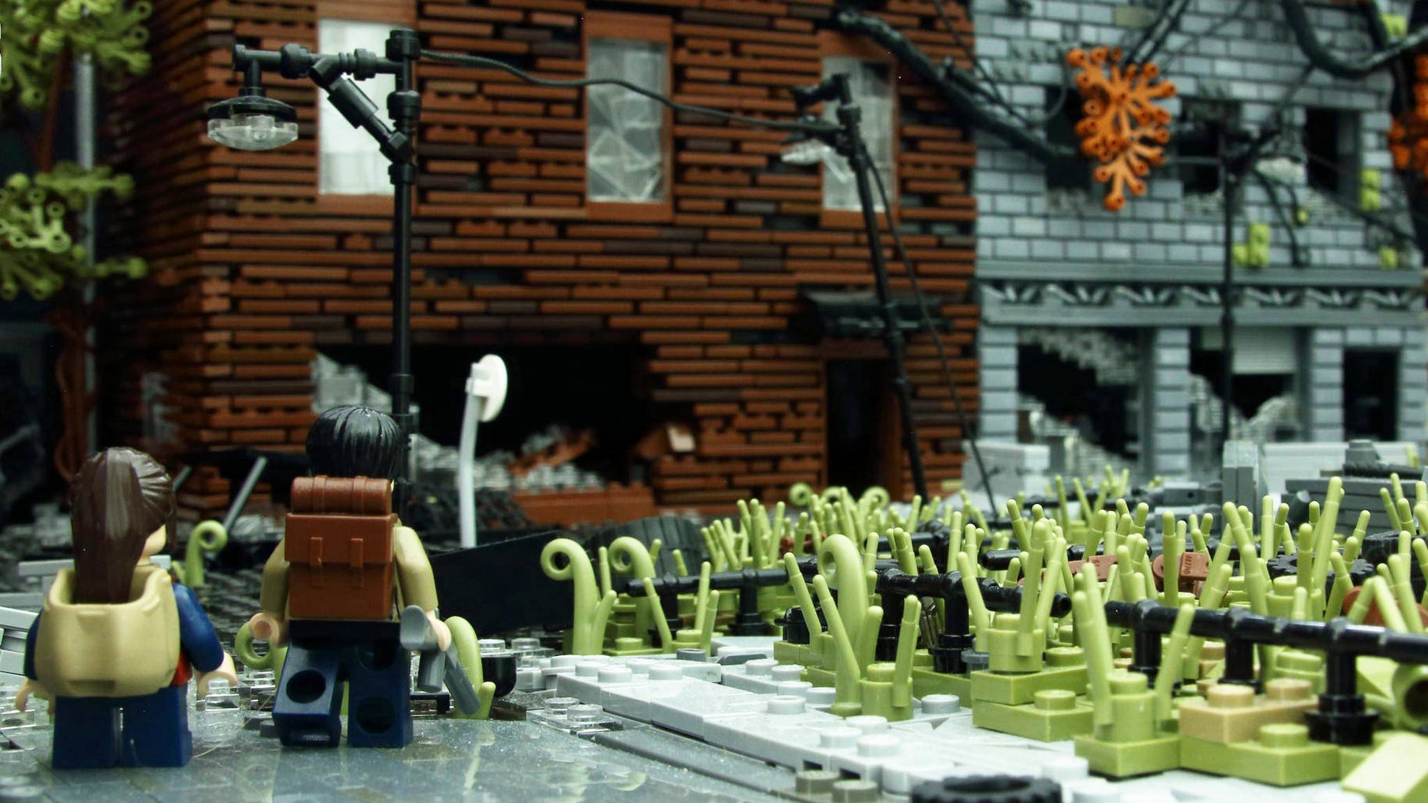 """The Last of Us"" aus Lego: Kunstwerk aus Bausteinen."
