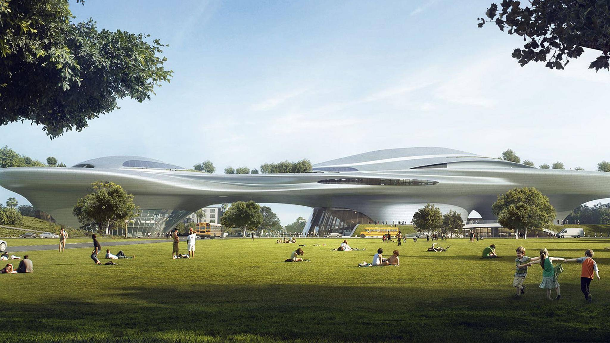 "Entwurf vom ""Lucas Museum of Narrative Art"""